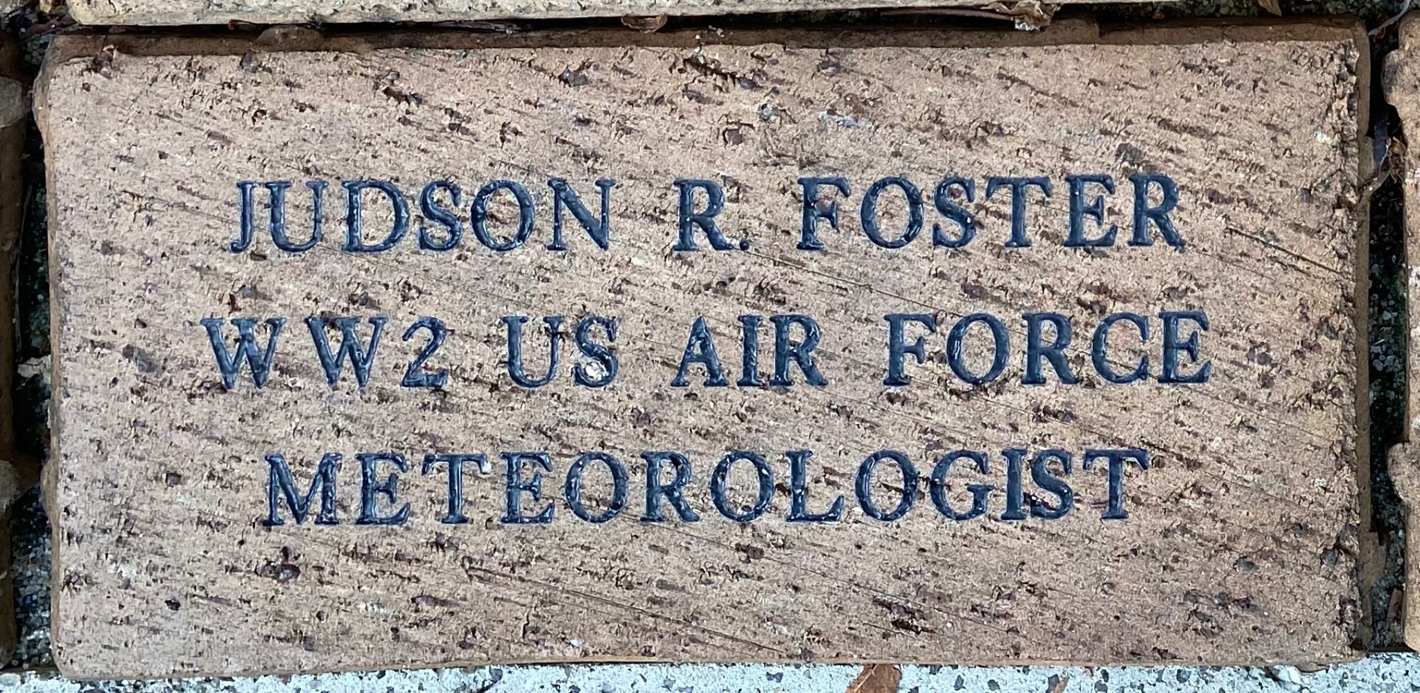 JUDSON R FOSTER WW2 US AIRFORCE METEOROLOGIST