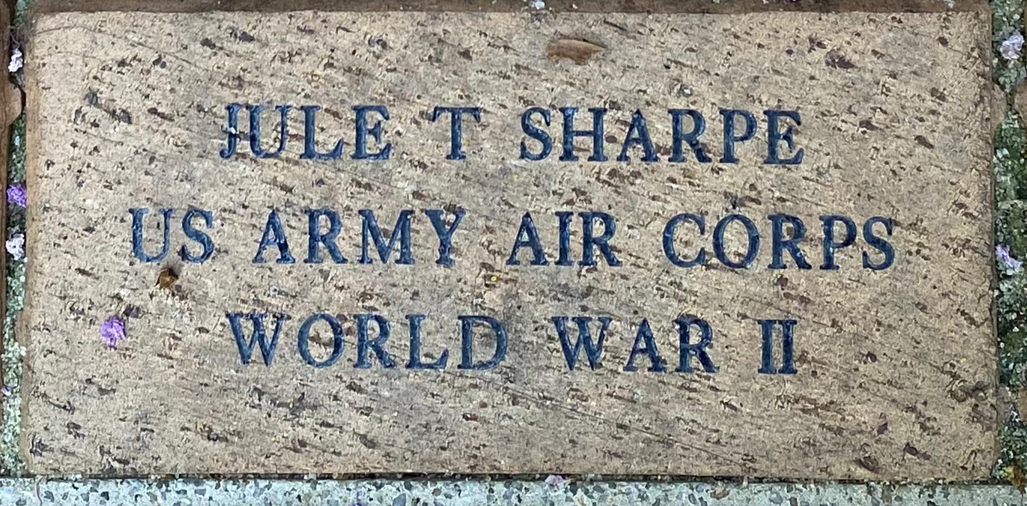JULE T SHARPE US ARMY AIR CORPS WORLD WAR II