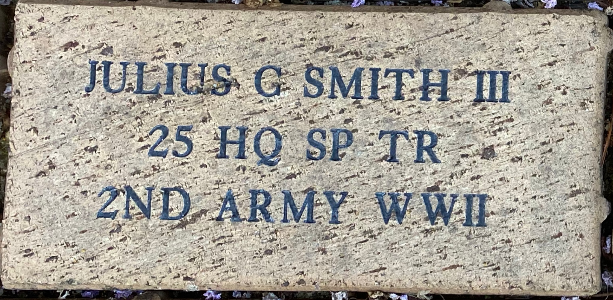 JULIUS C. SMITH III 25 HQ SP TR 2ND ARMY WWII