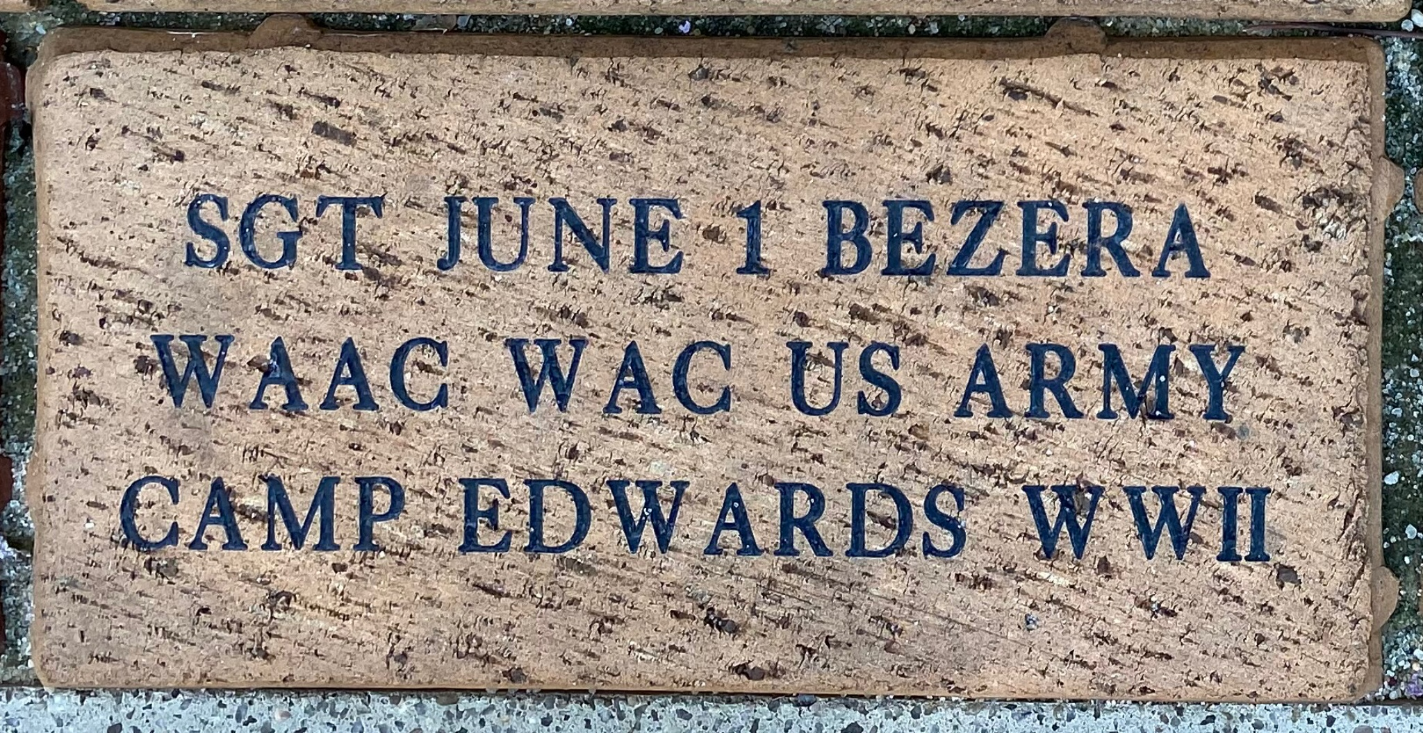 SGT JUNE I BEZERA WAAC WAC US ARMY CAMP EDWARDS WWII
