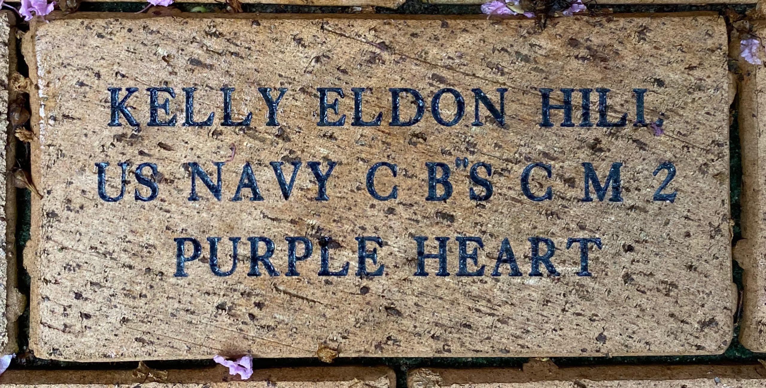 KELLY ELDON HILL US NAVY C B''S C M 2 PURPLE HEART