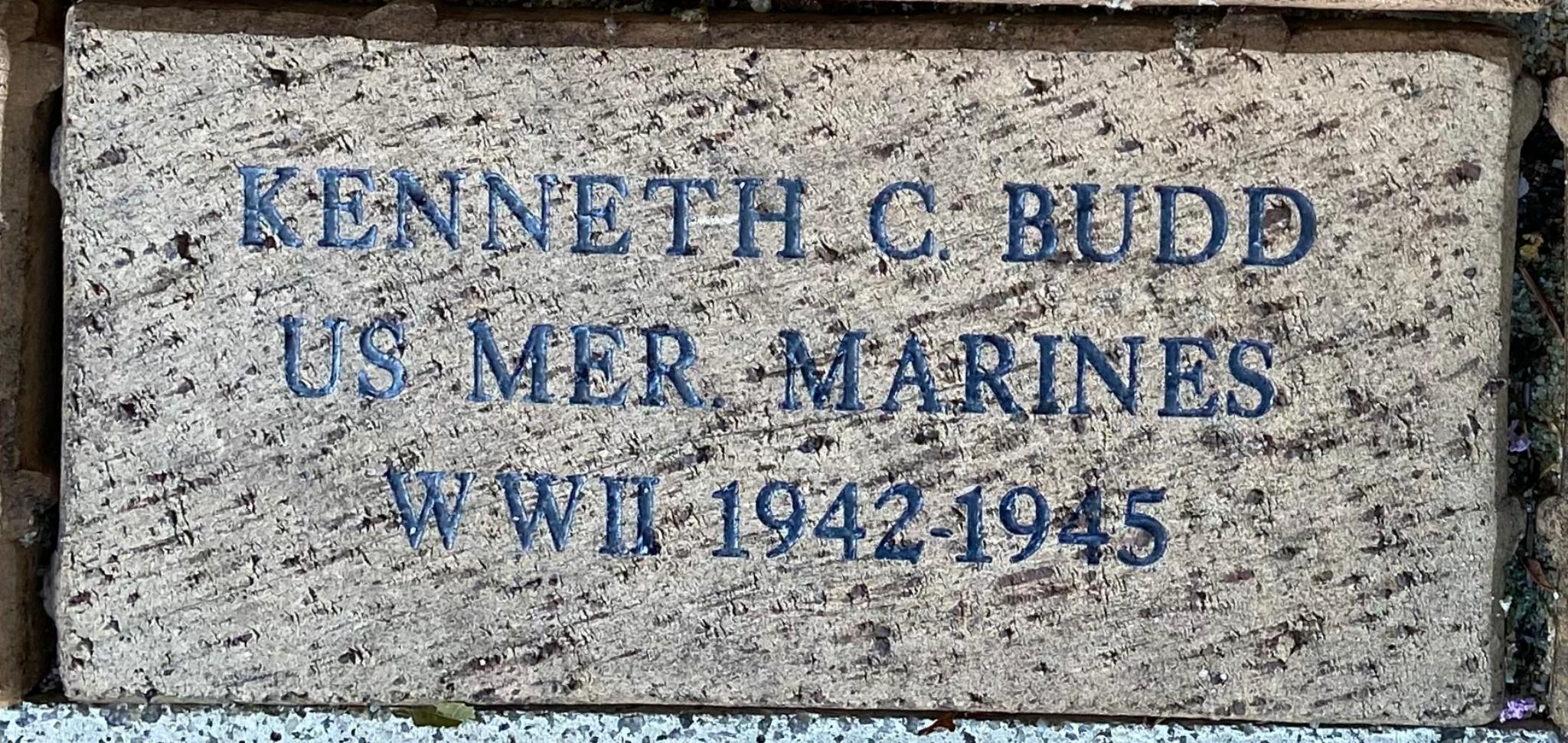 KENNETH C. BUDD US MER. MARINES WWII 1942-1945
