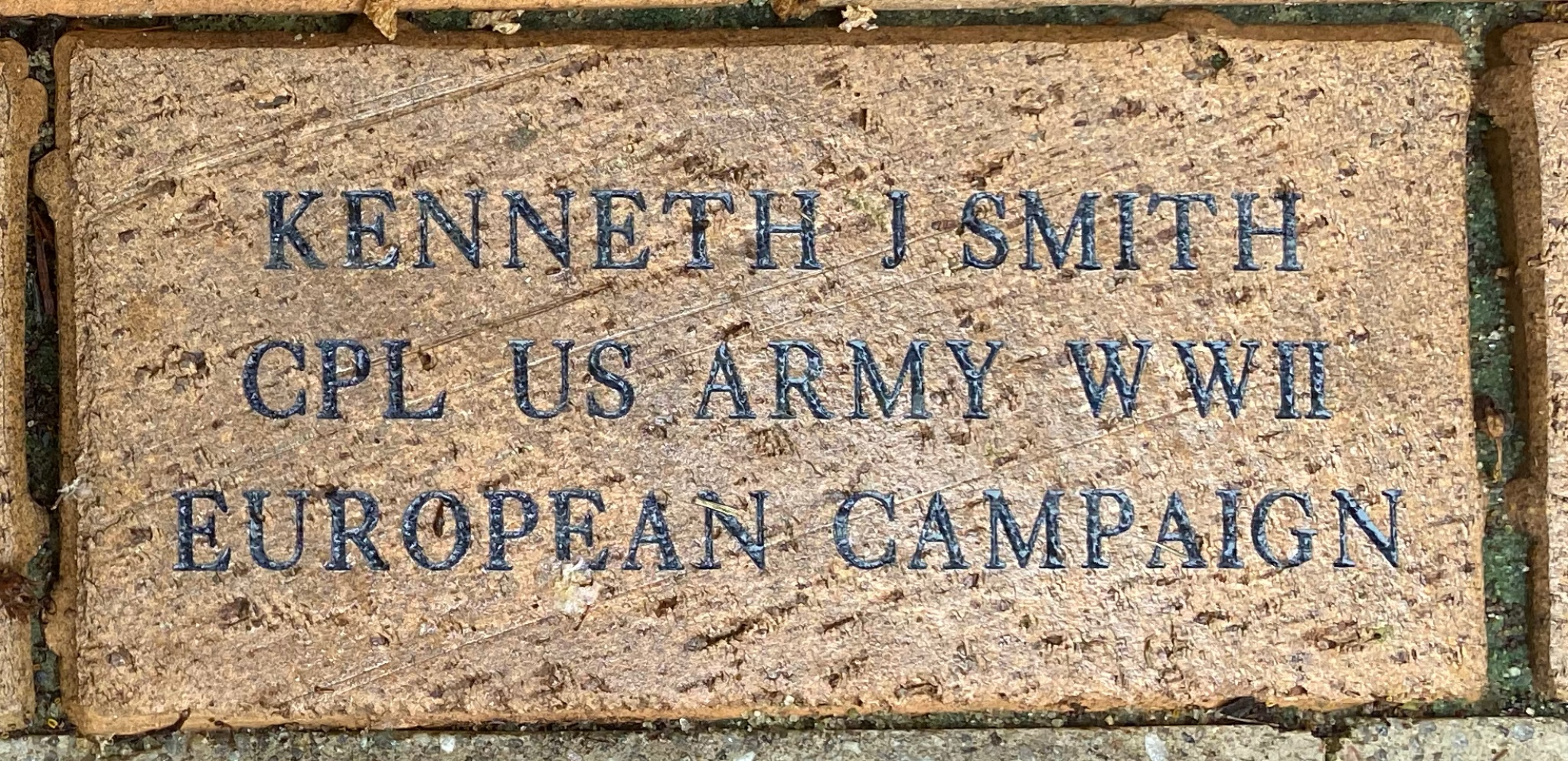 KENNETH J. SMITH CPL US ARMY WWII EUROPEAN CAMPAIGN