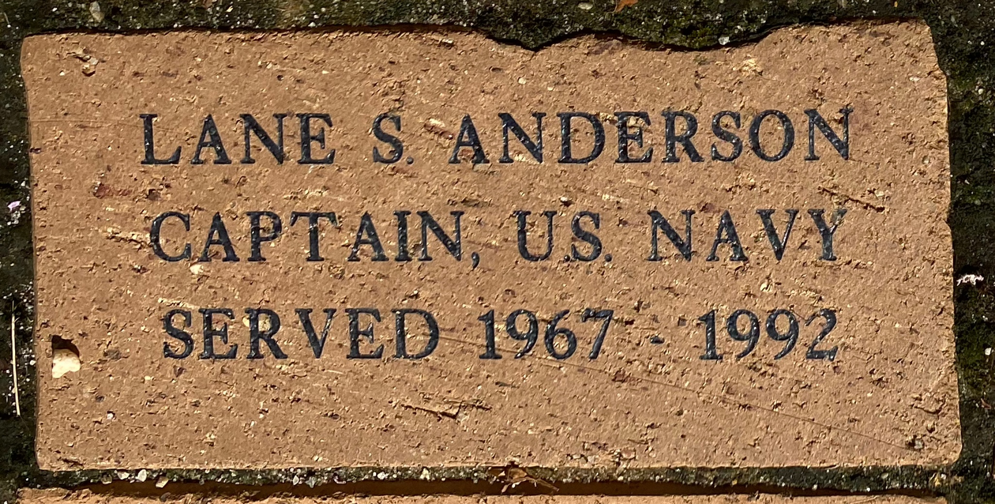 LANE S. ANDERSON CAPTAIN, U.S. NAVY SERVED 1967 – 1992