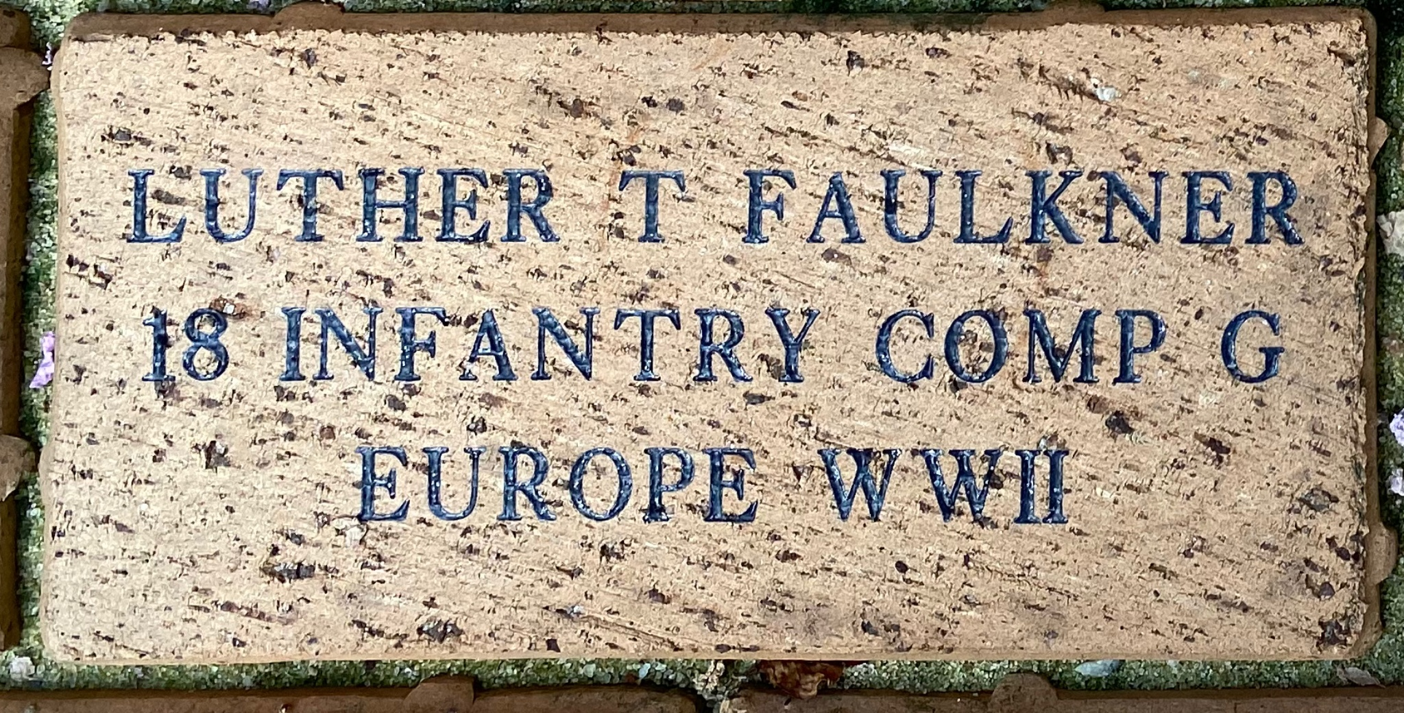 LUTHER T FAULKNER 18 INFANTRY COMP G WWII