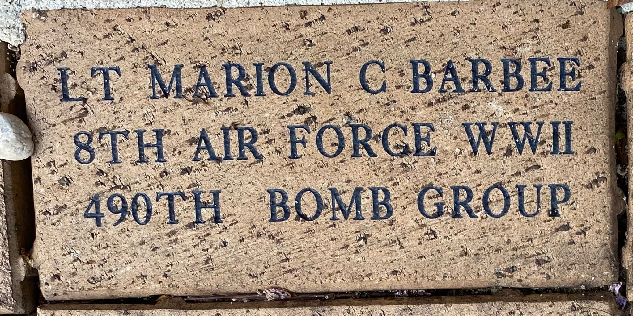 LT MARION C BARBEE 8TH AIR FORCE WWII 490TH BOMB GROUP