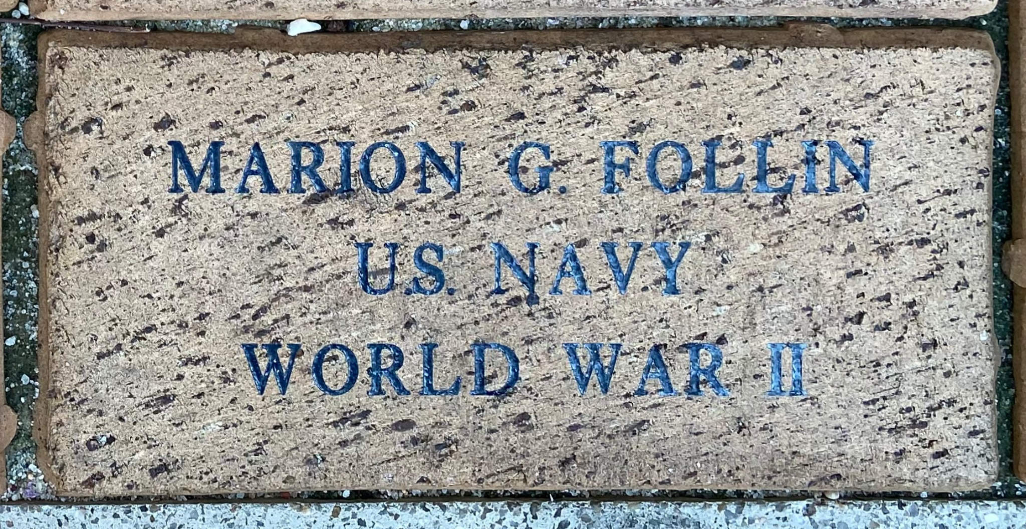 MARION G. FOLLIN U.S. NAVY WORLD WAR II