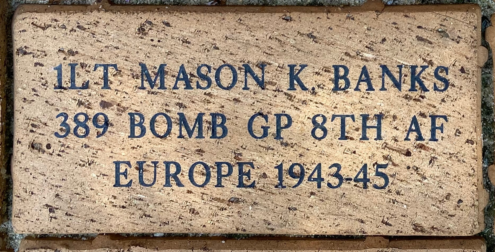 1LT MASON K. BANKS 389 BOMB GP 8TH AF EUROPE 1943-45