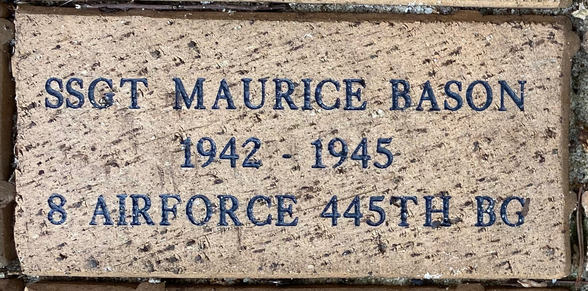 SSGT MAURICE BASON 1942-1945 8 AIRFORCE 445TH BG