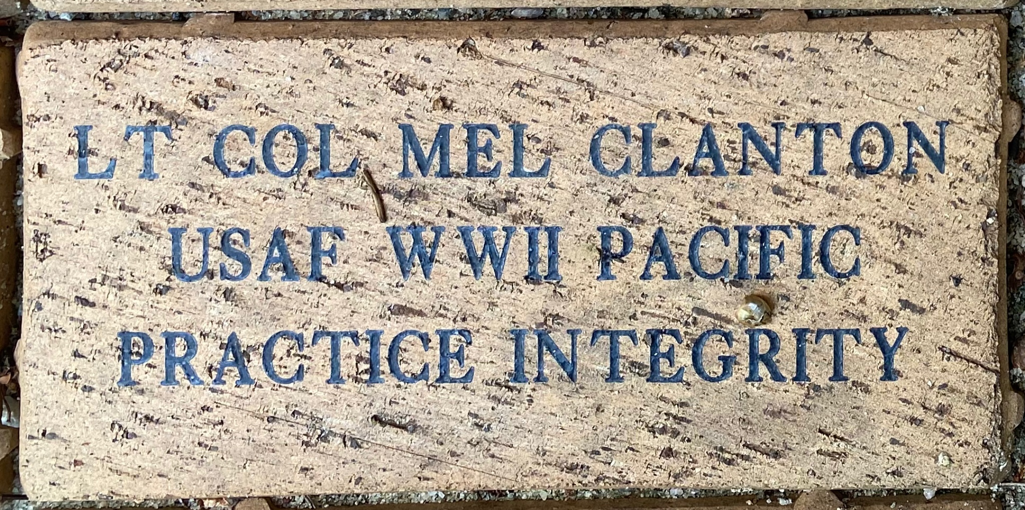 LT COL MEL CLANTON USAF WWII PACIFIC PRACTICE INTEGRITY