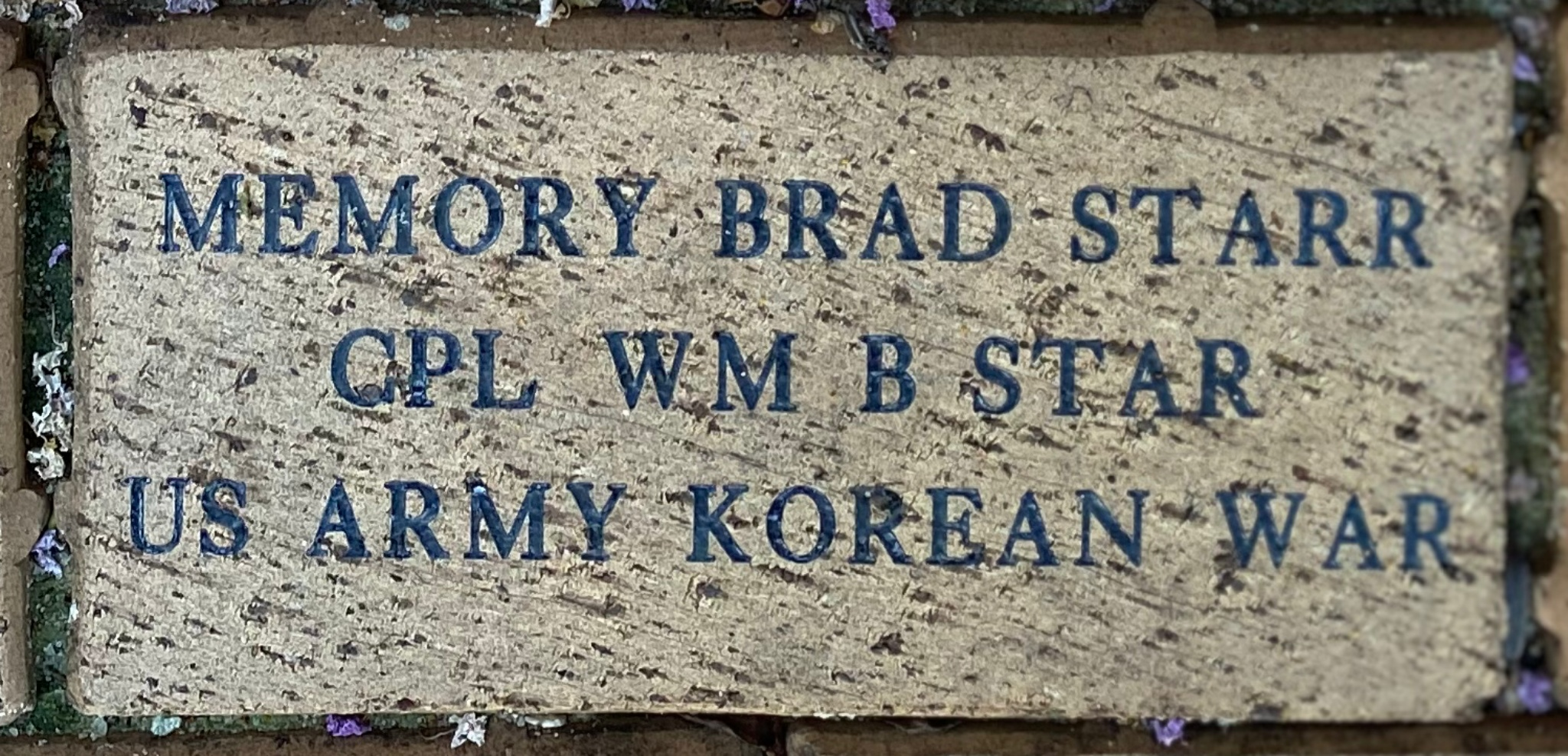 MEMORY BRAD STARR CPL WM B STARR US ARMY KOREAN WAR