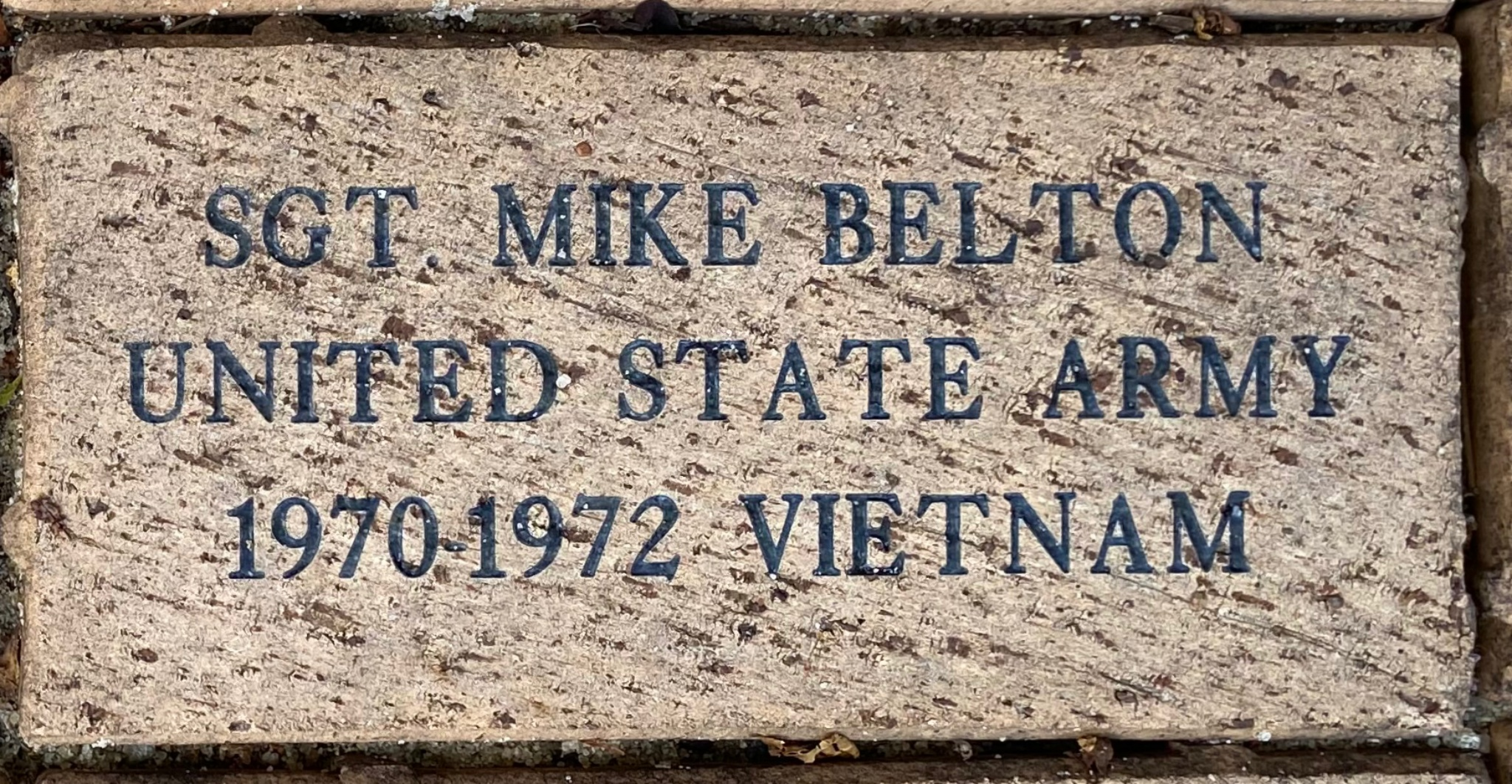 SGT. MIKE BELTON UNITED STATES ARMY 1970-1972 VIETNAM