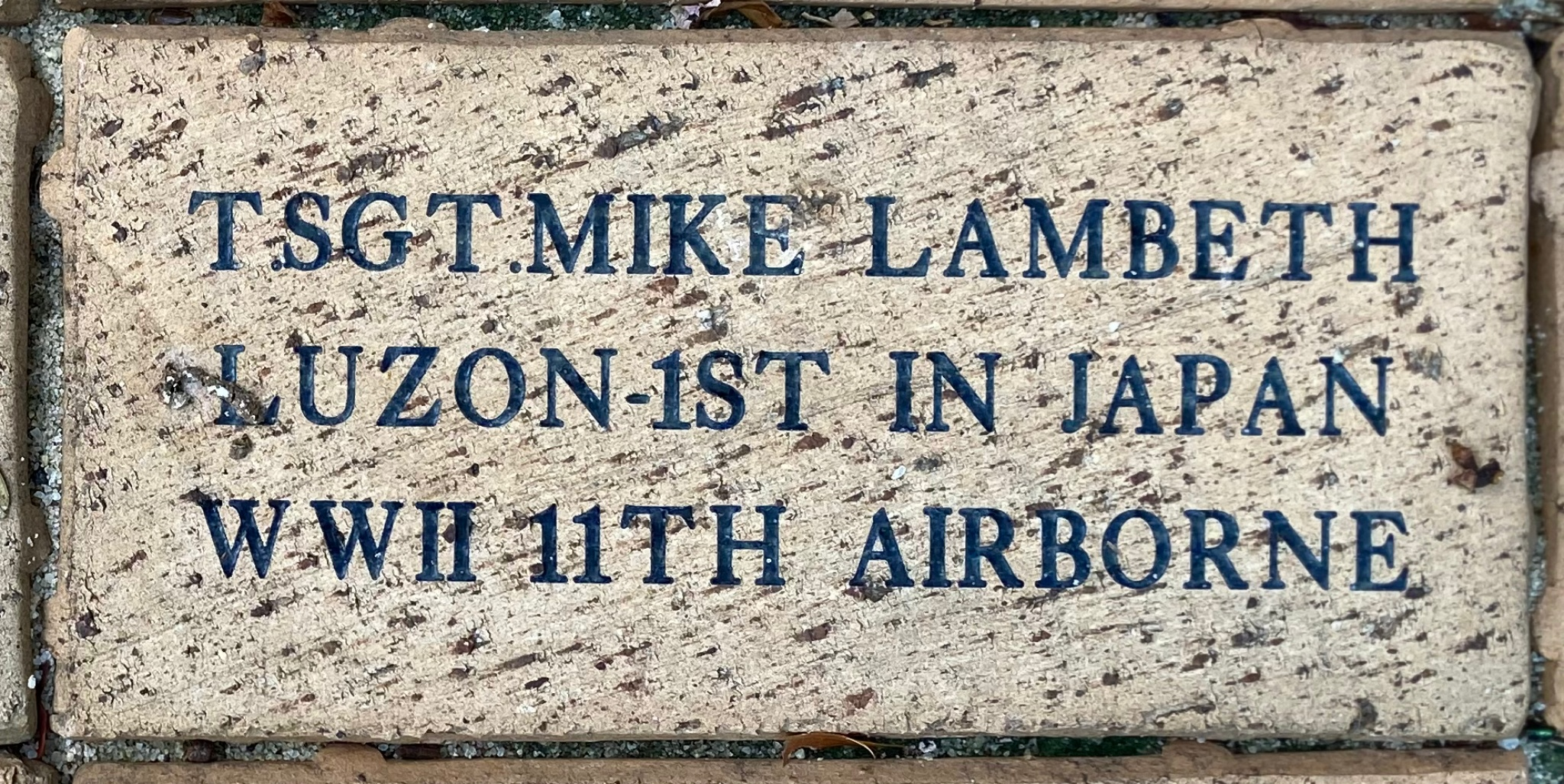 T.SGT. MIKE LAMBETH LUZON 1ST IN JAPAN WWII 11TH AIRBORNE