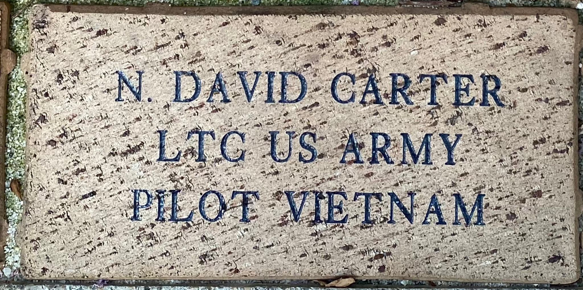 N. DAVID CARTER LTC US ARMY PILOT VIETNAM