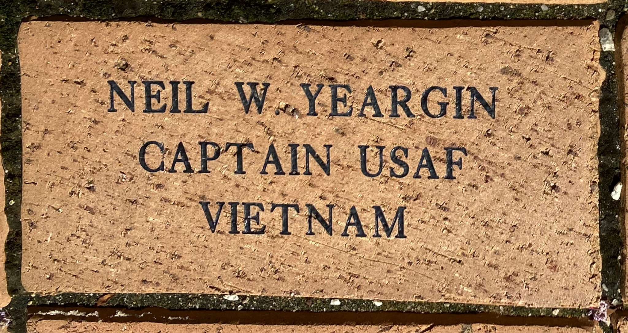 NEIL W. YEARGIN CAPTAIN USAF VIETNAM