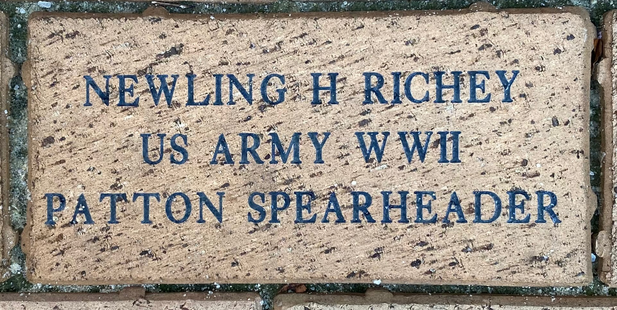 NEWLING H RICHEY US ARMY WWII PATTON SPEARHEADER