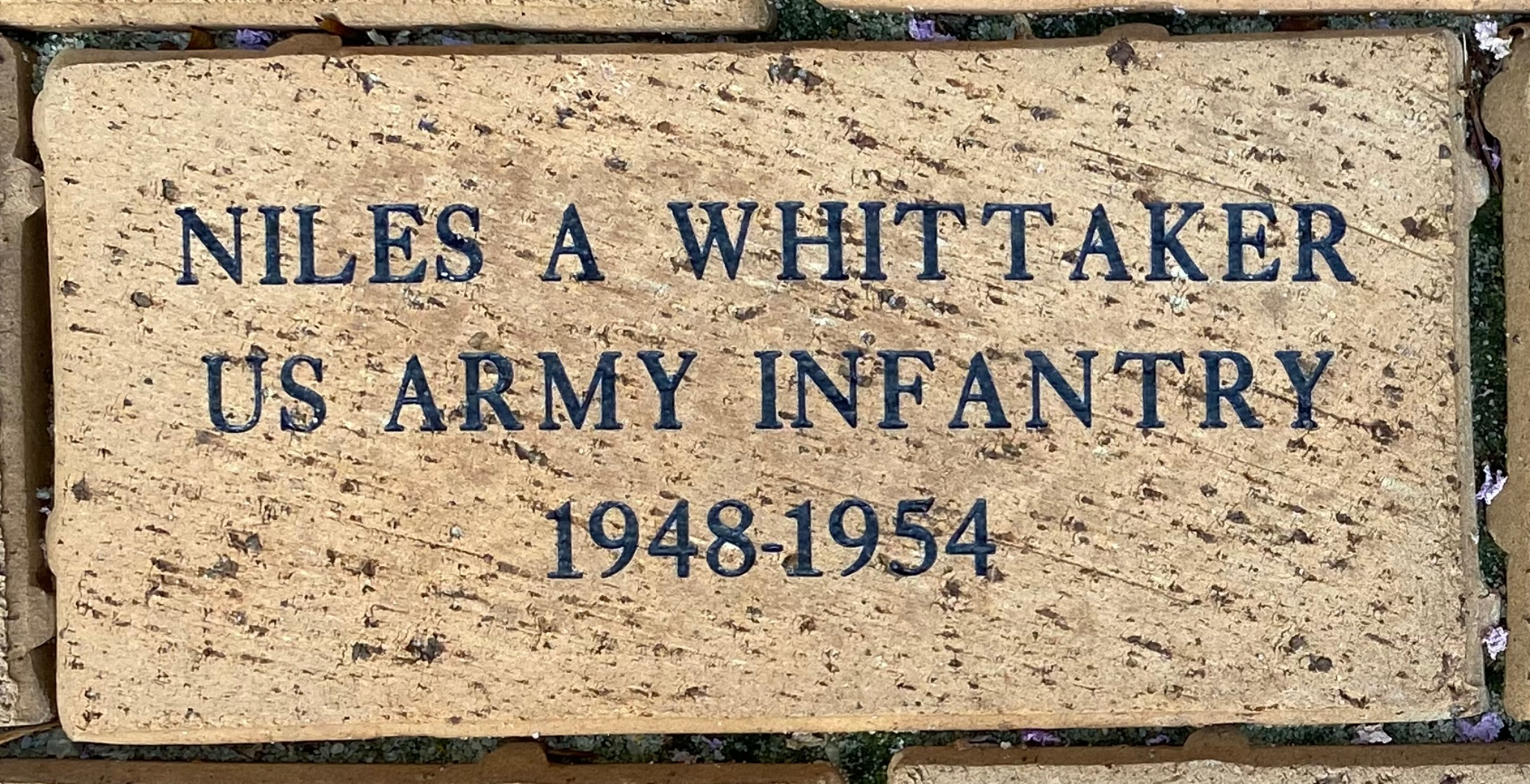 NILES A WHITTAKER US ARMY INFANTRY 1948-1954