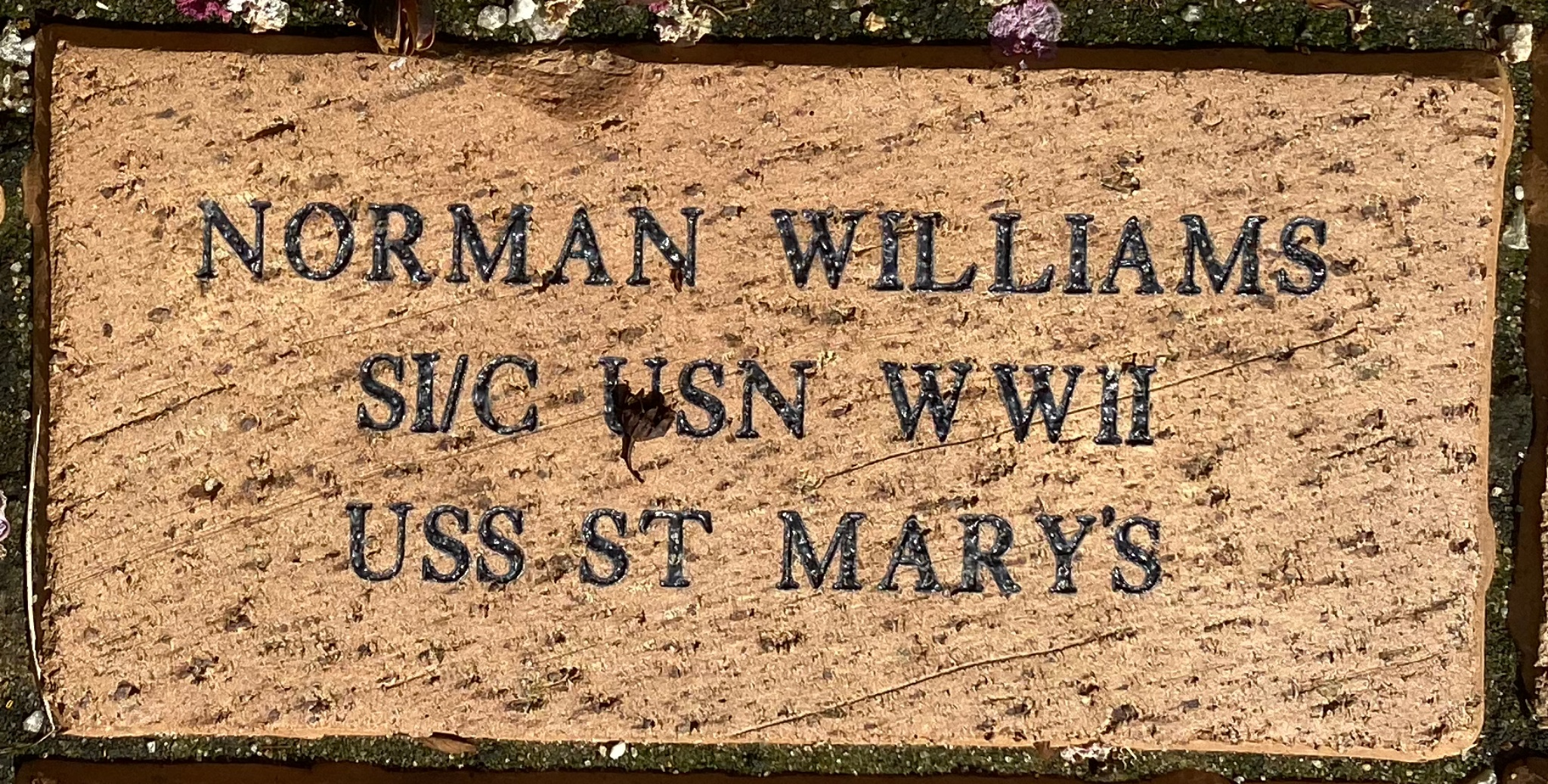 NORMAN WILLIAMS SI/C USN WWII USS ST MARY'S