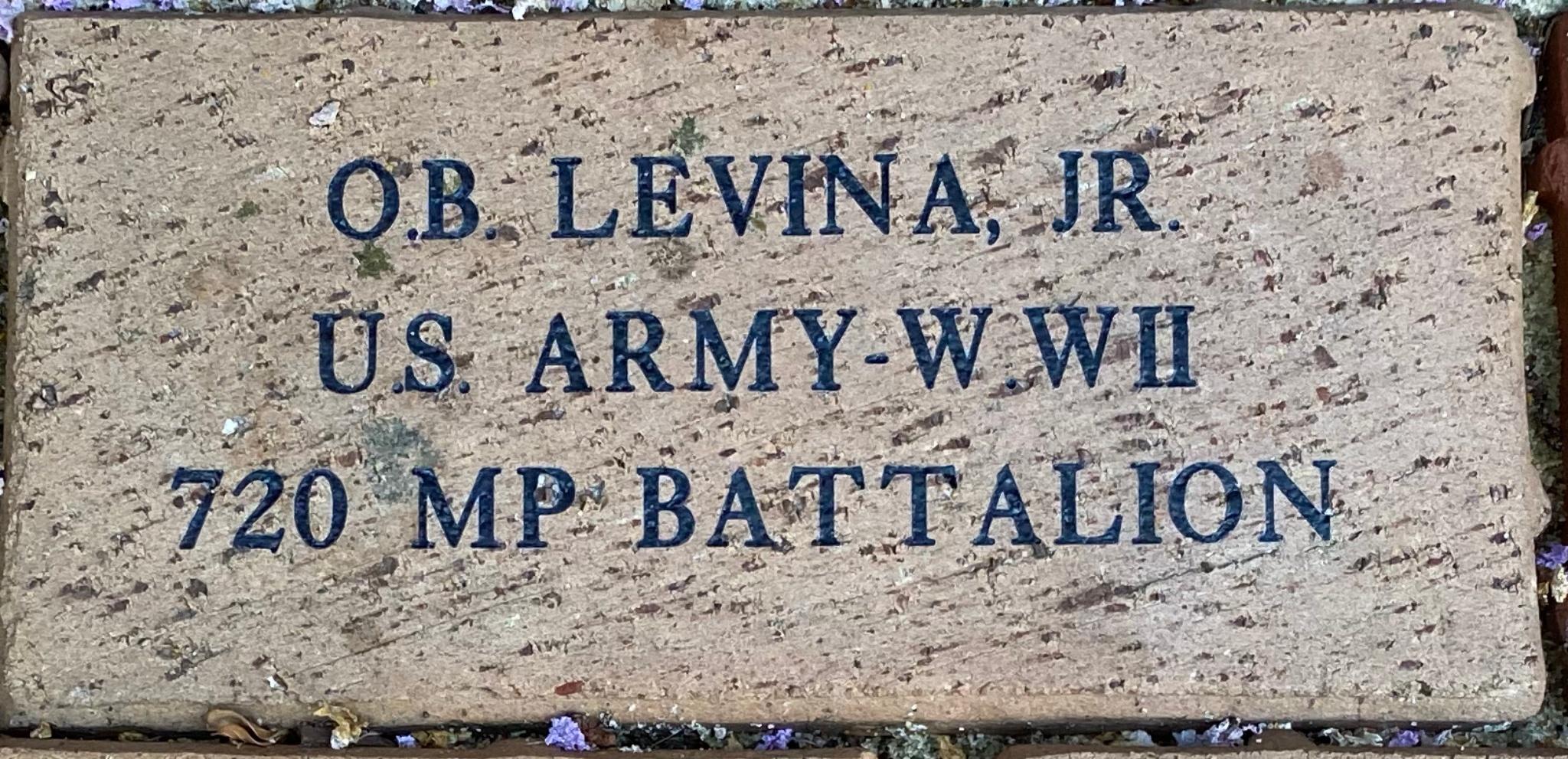 O.B. LEVINA JR. US ARMY WWII 720 MP BATTALION