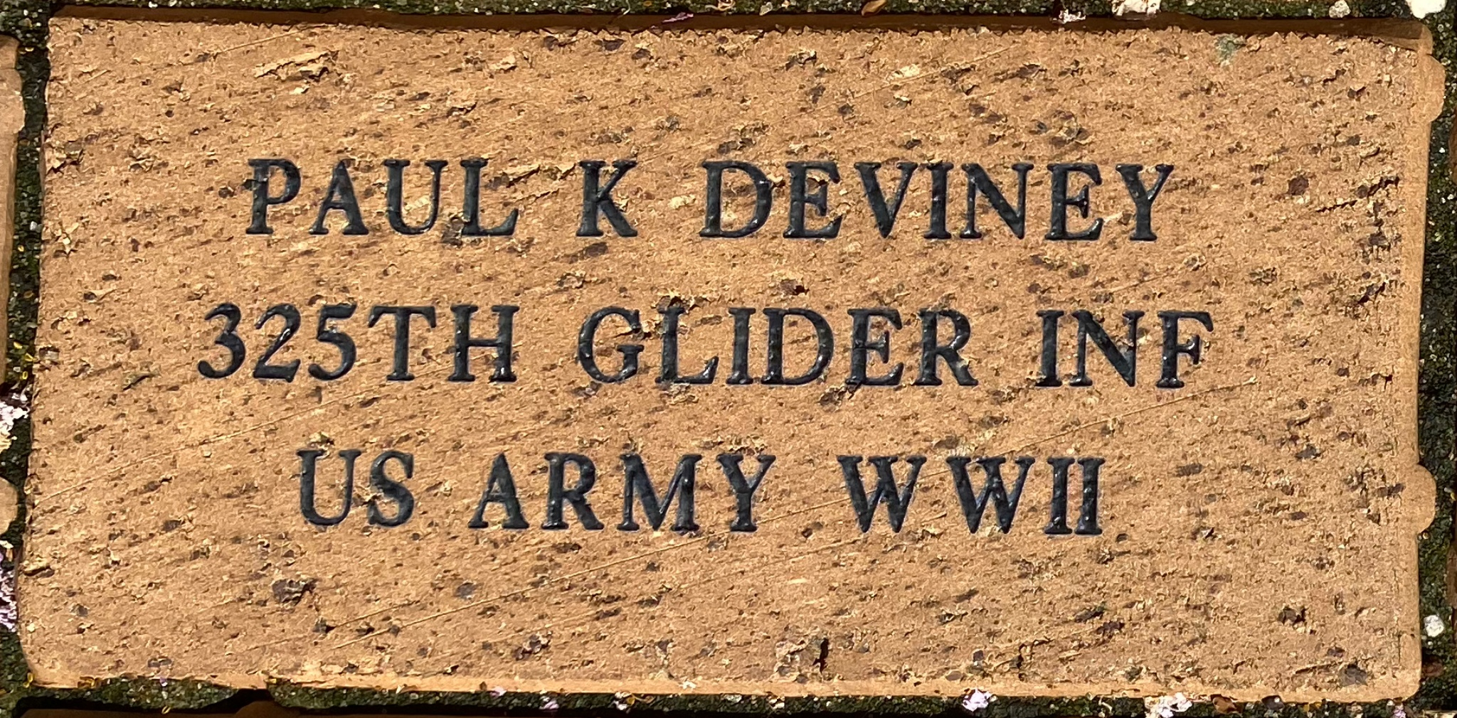 PAUL K DEVINEY 325TH GLIDER INF US ARMY WWII