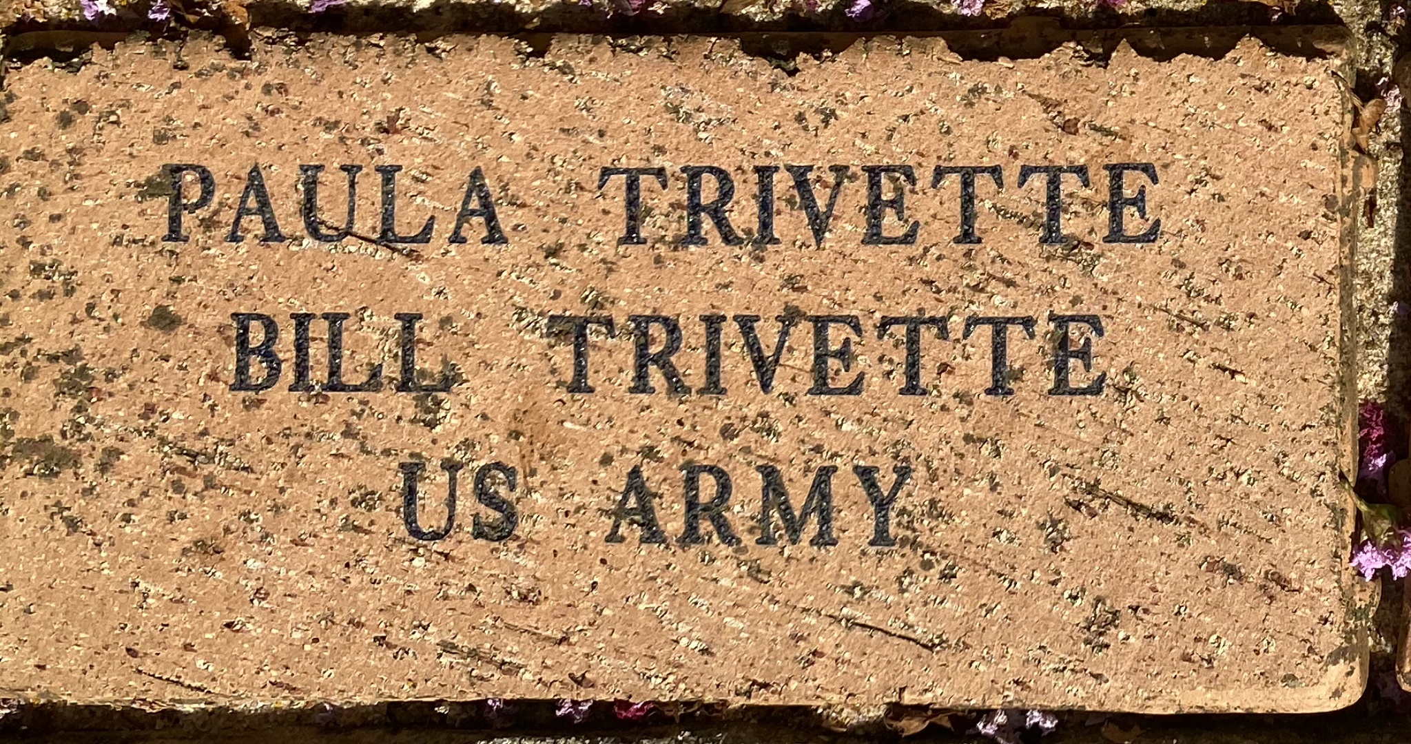PAULA TRIVETTE BILL TRIVETTE US ARMY