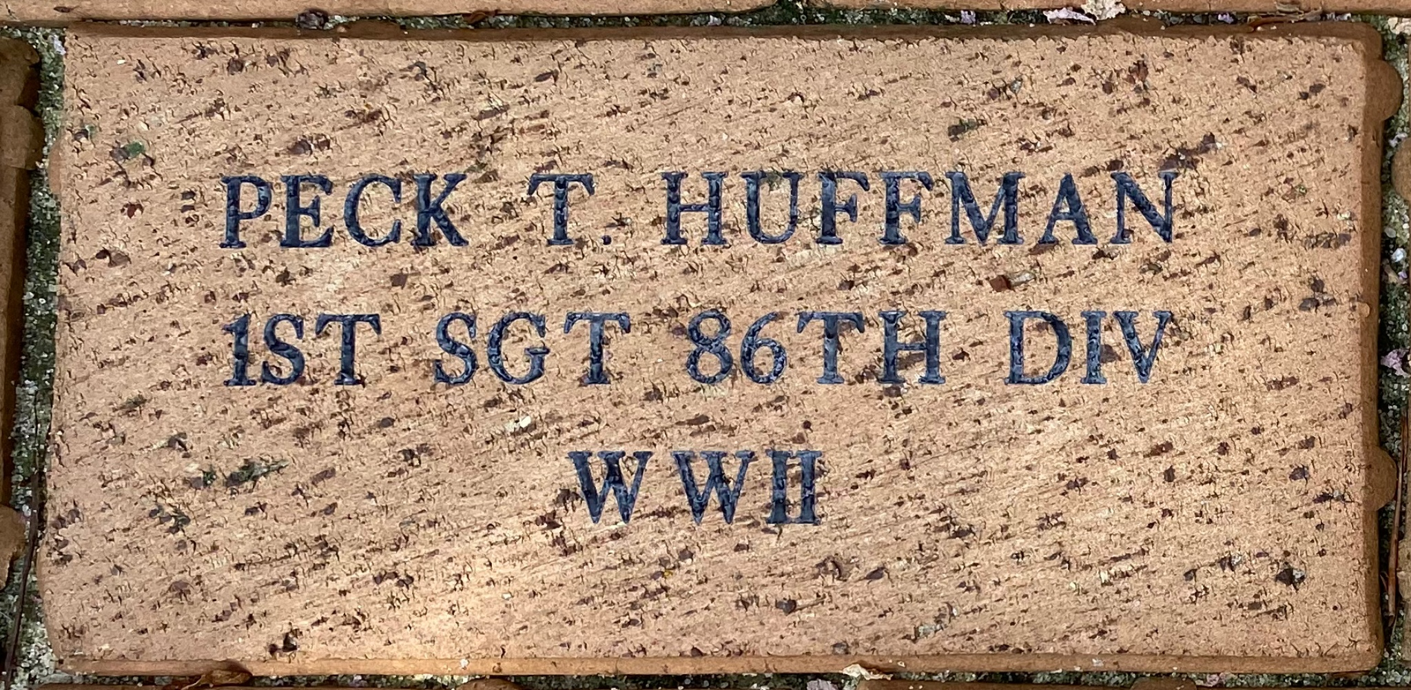PECK T. HUFFMAN 1ST SGT 86TH DIV WWII