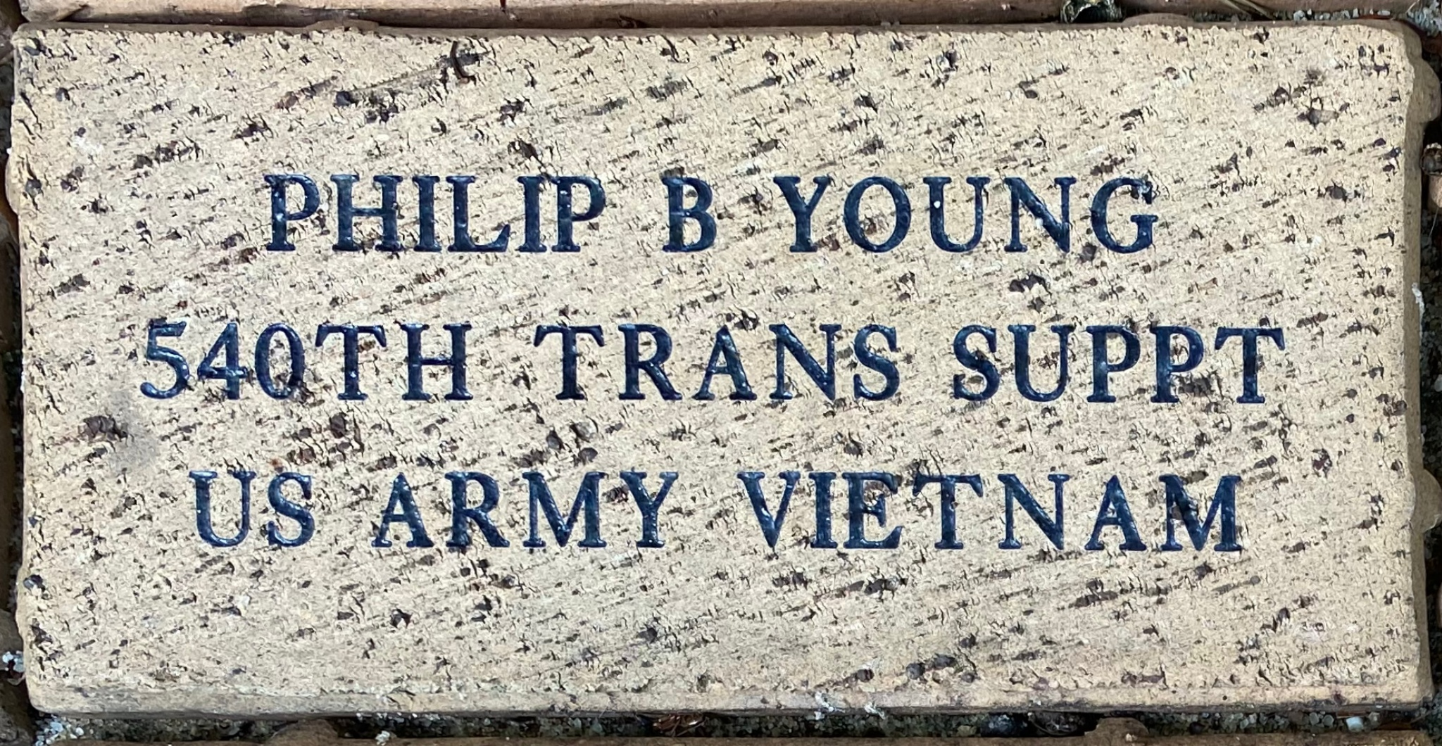 PHILIP B YOUNG 540TH TRANS SUPPT US ARMY VIETNAM