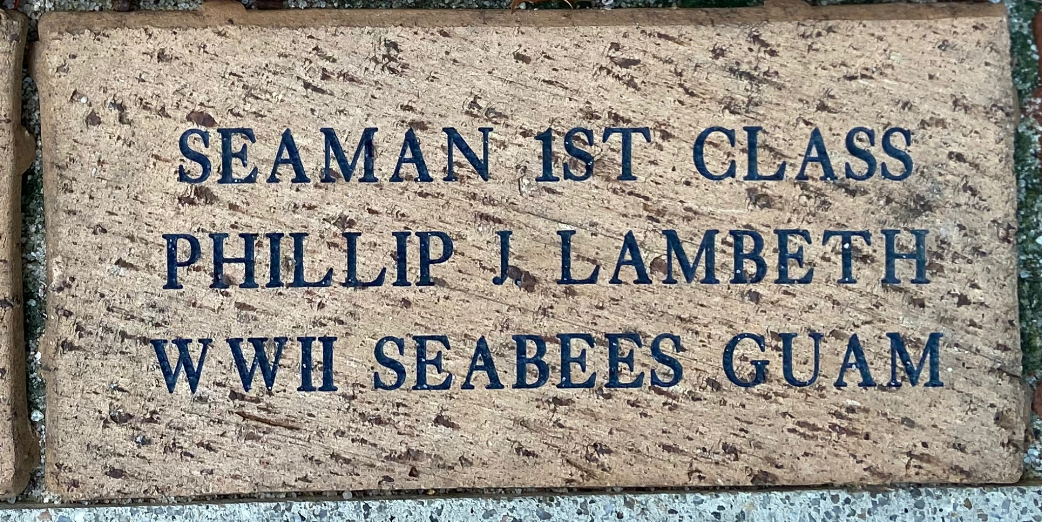 SEAMAN 1ST CLASS PHILLIP J LAMBETH WWII SEABEES GUAM