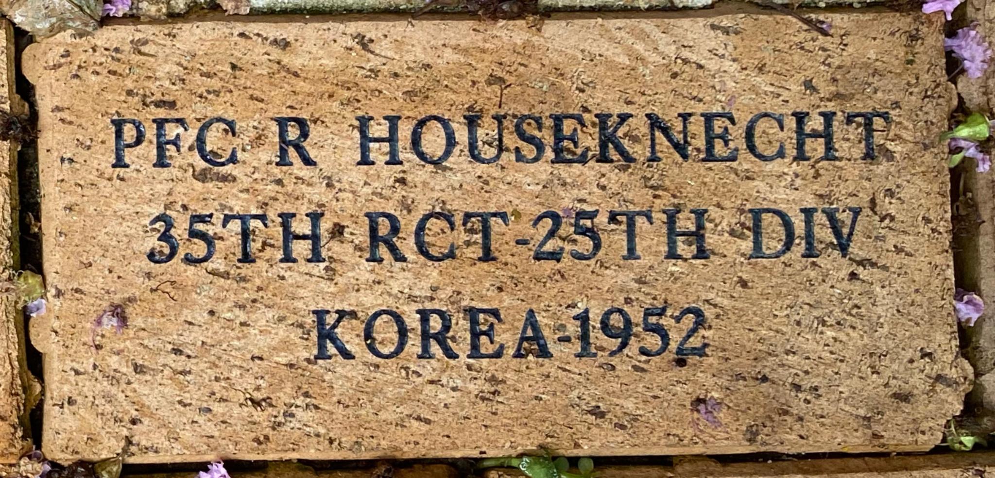 PFC R HOUSEKNECHT 35TH RCT-25TH DIV KOREA – 1952
