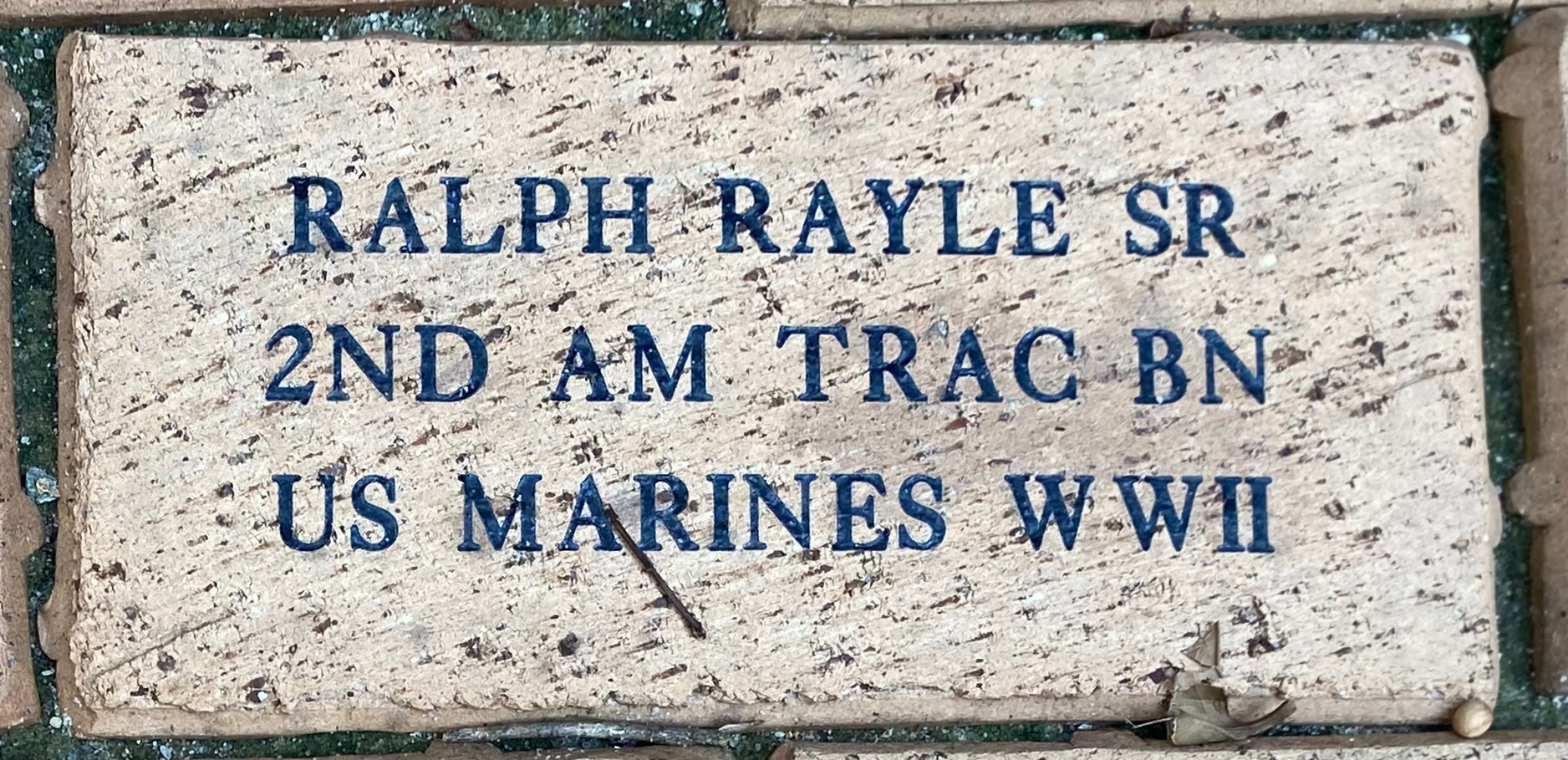 RALPH RAYLE SR 2ND AM TRAC BN US MARINES WWII