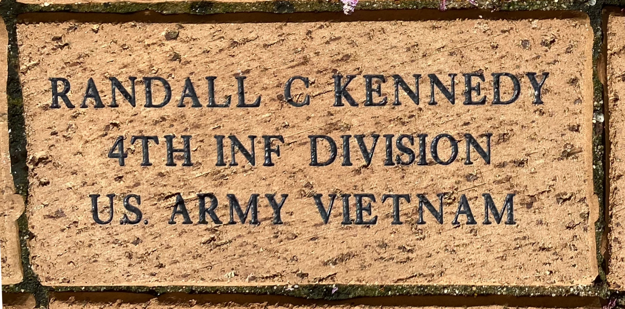 RANDALL C KENNEDY 4TH INF DIVISION U.S. ARMY VIETNAM