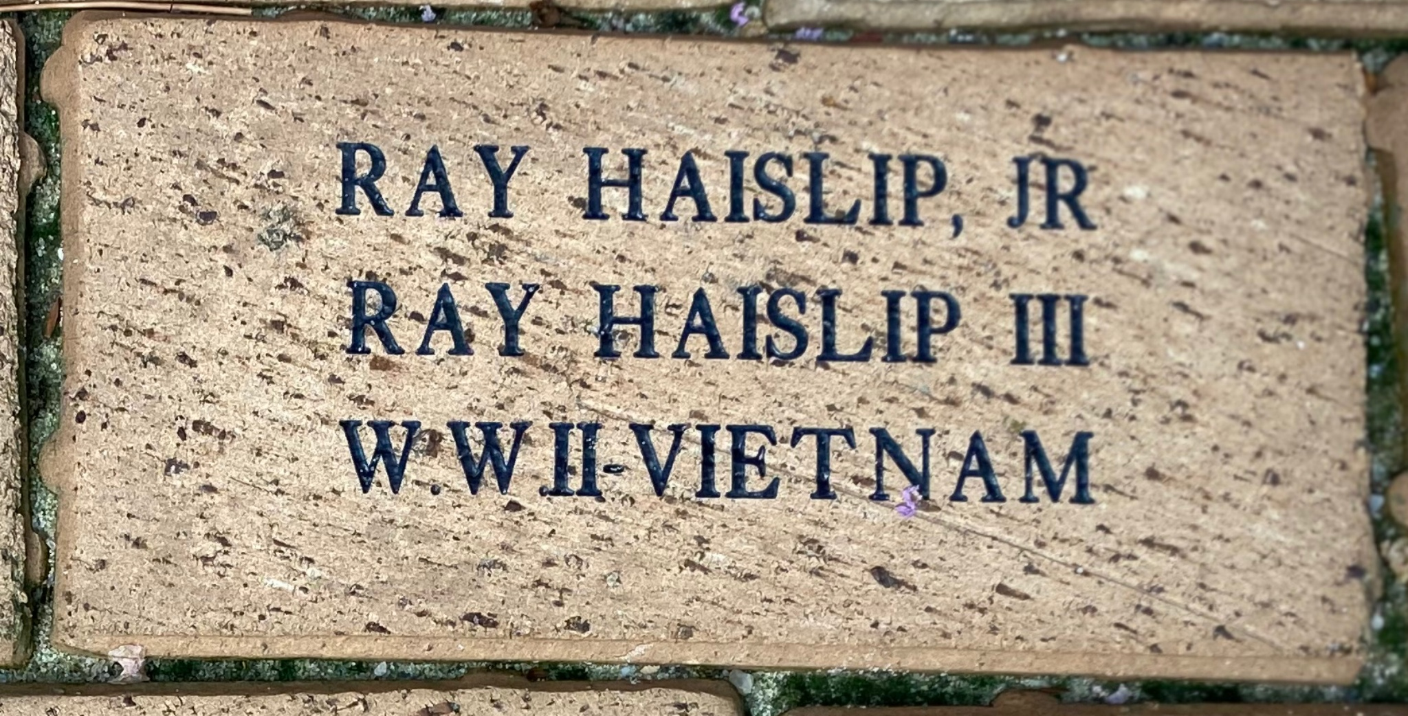 RAY HAISLIP, JR. RAY HAISLIP III WWII-VIETNAM
