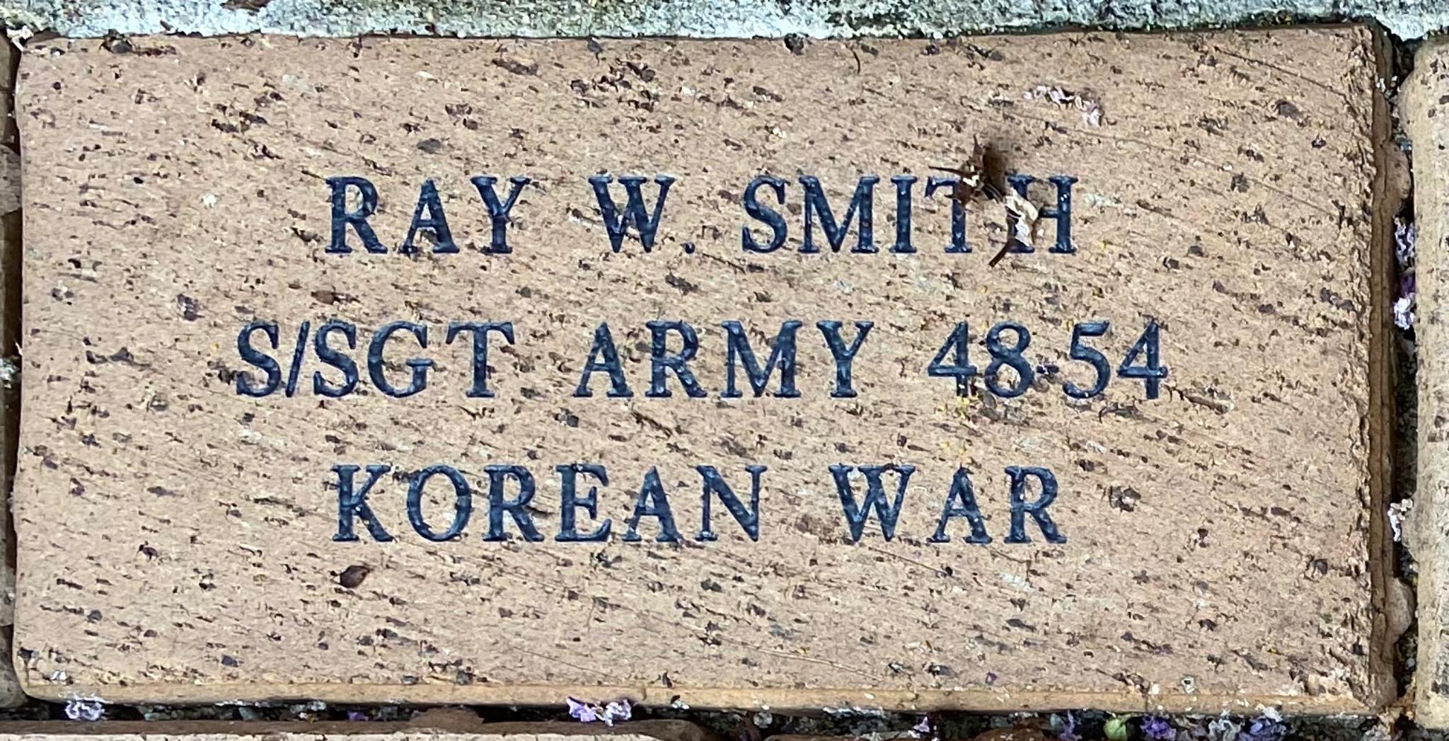 RAY W. SMITH S/SGT ARMY 48-54 KOREAN WAR