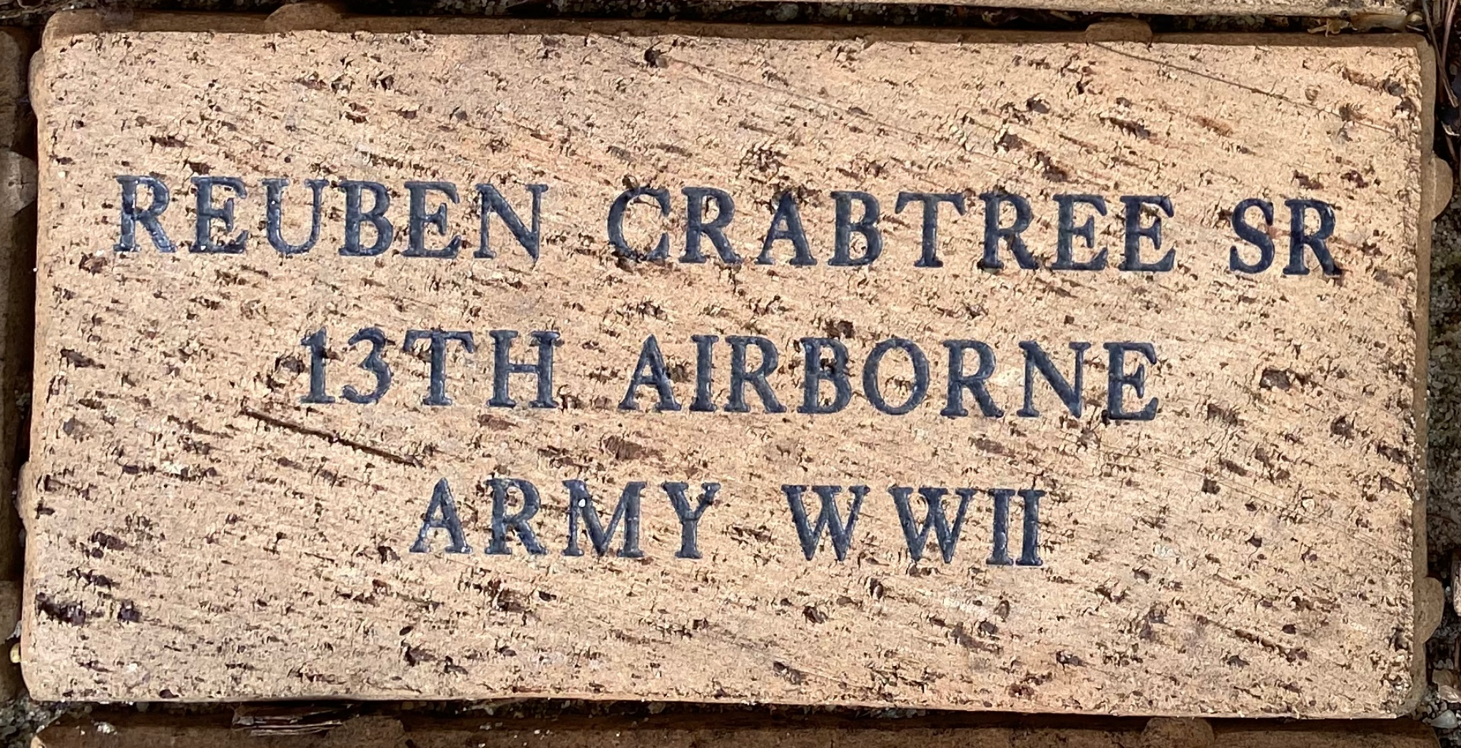 REUBEN CRABTREE SR 13TH AIRBORNE ARMY WWII