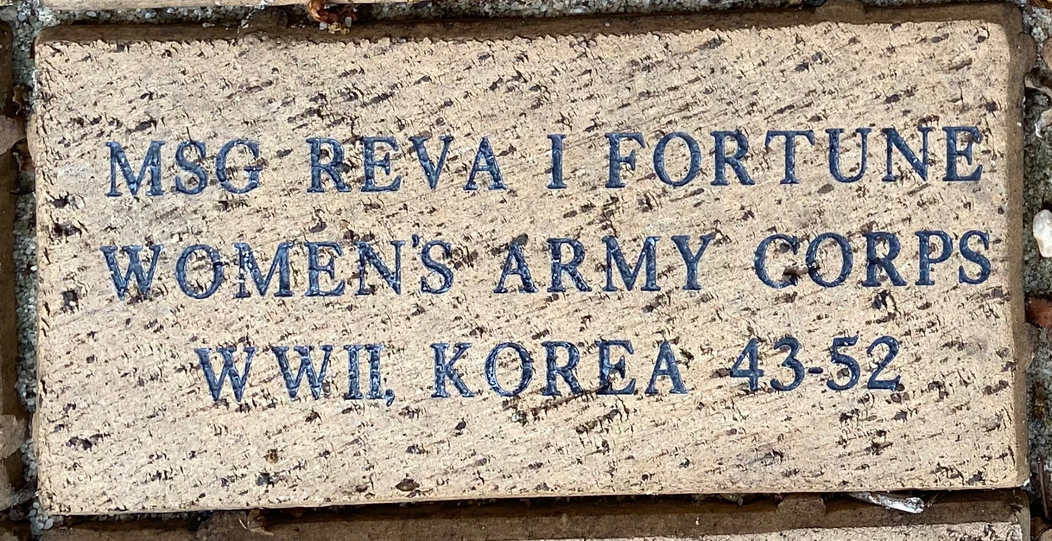 MSG REVA I FORTUNE WOMEN'S ARMY CORPS WWII KOREA 45-52