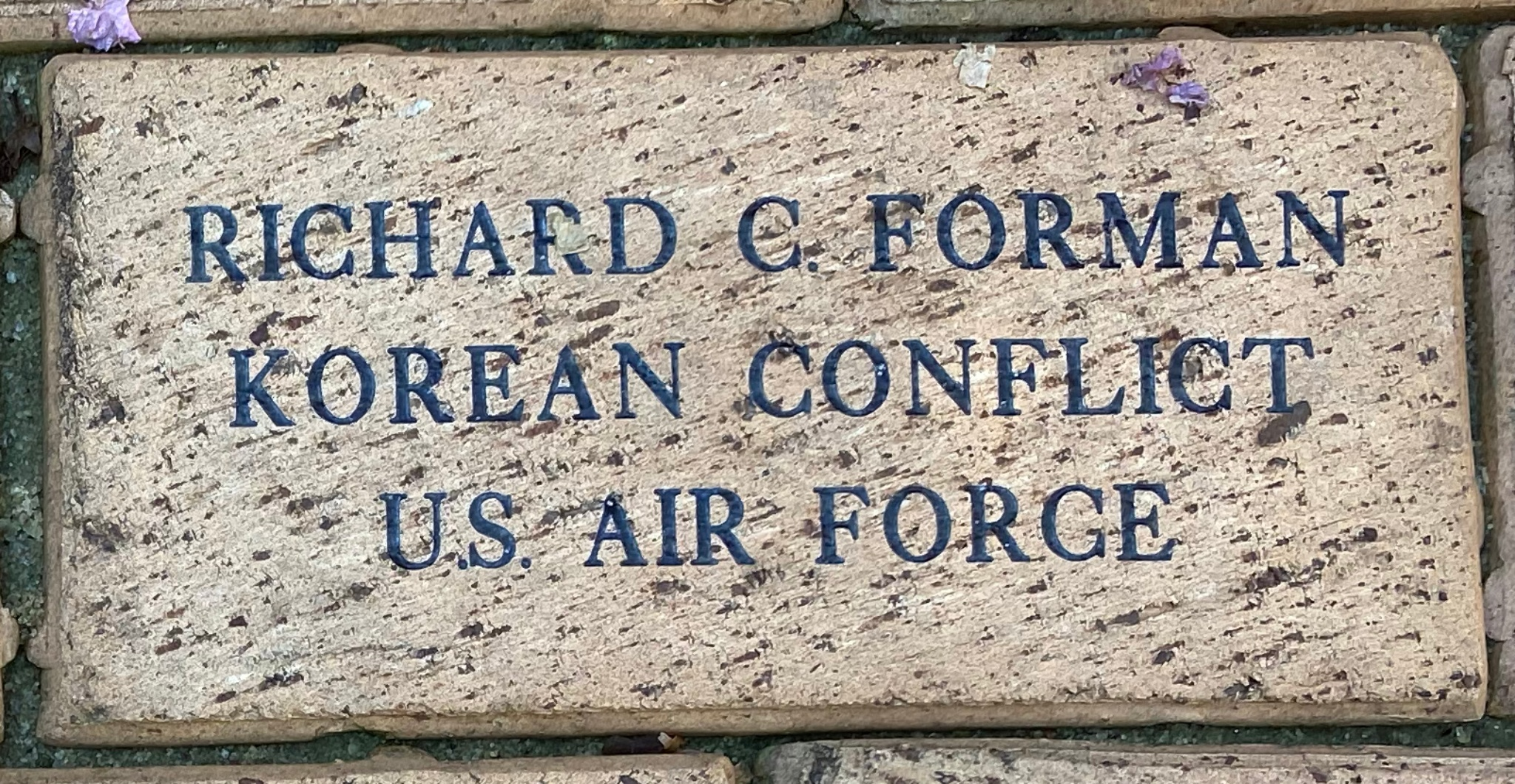 RICHARD C. FORMAN KOREAN CONFLICT US AIR FORCE