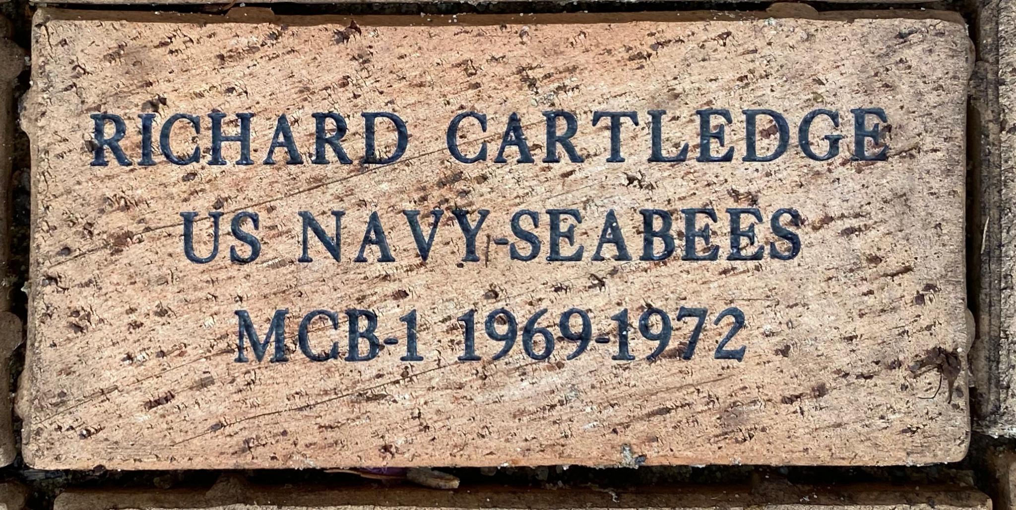 RICHARD CARTLEDGE US NAVY –SEABEES MCB-1 1969-1972