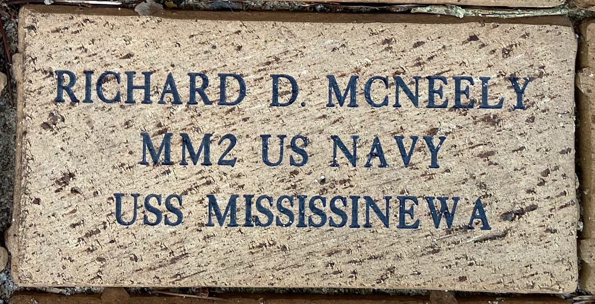 RICHARD D. MCNEELY MM2 US NAVY USS MISSISSINEWA