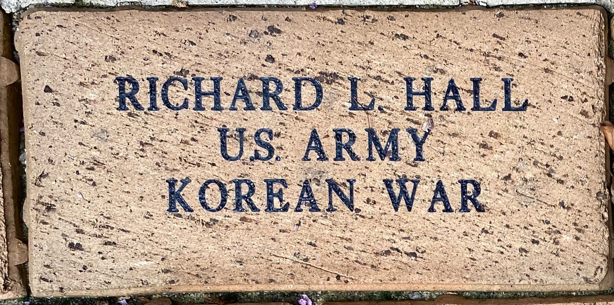 RICHARD L. HALL U.S. ARMY KOREAN WAR