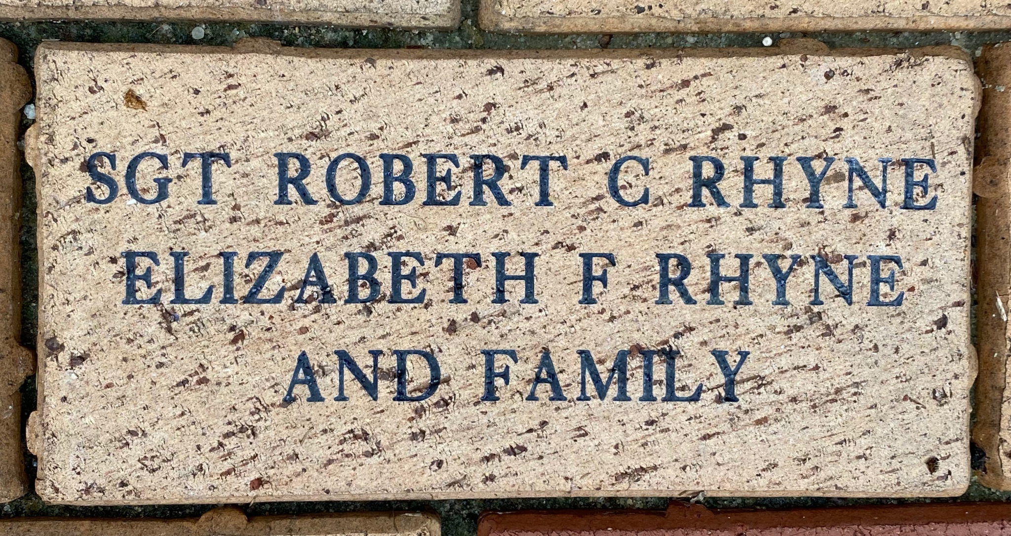 SGT ROBERT C RHYNE ELIZABETH F RHYNE AND FAMILY