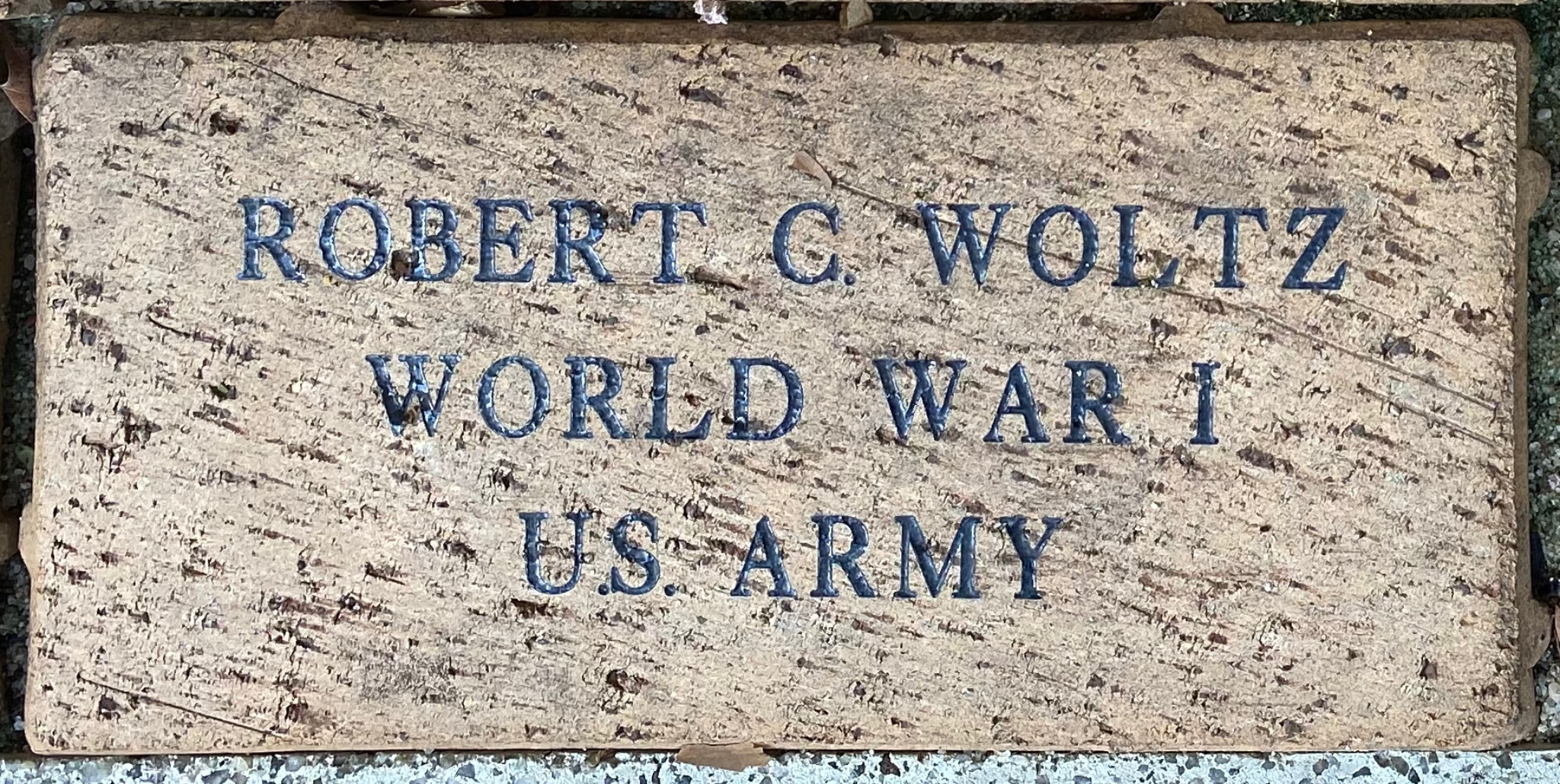 ROBERT C. WOLTZ WORLD WAR I U.S. ARMY