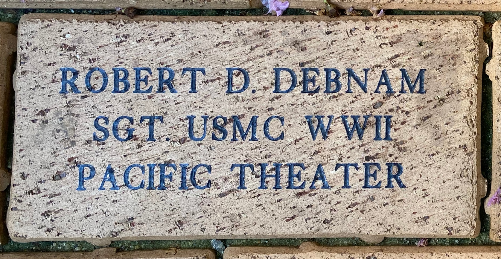 ROBERT D. DEBNAM SGT. USMC WWII PACIFIC THEATER