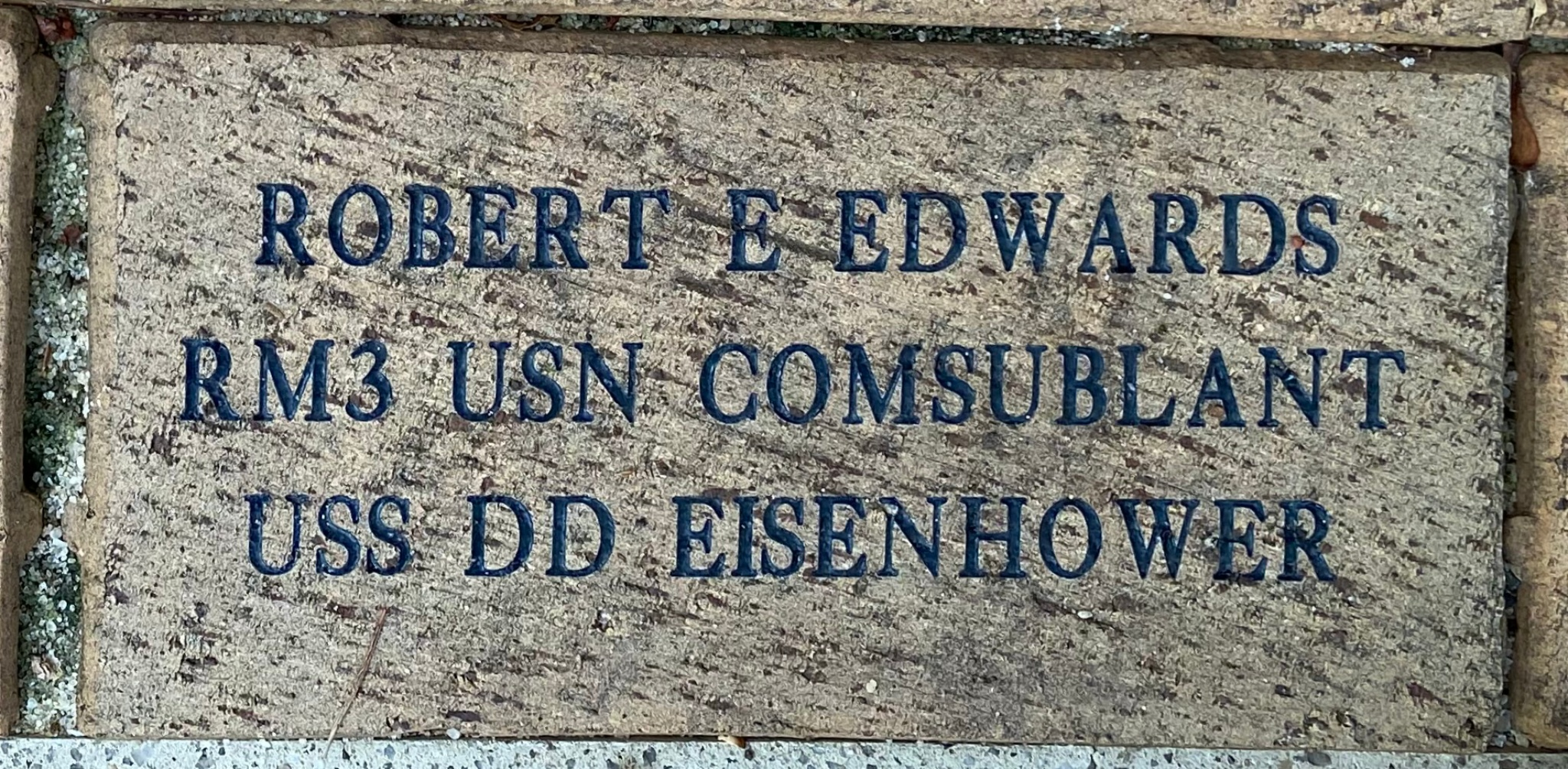 ROBERT E EDWARDS RM3 USN COMSUBLANT USS DD EISENHOWER