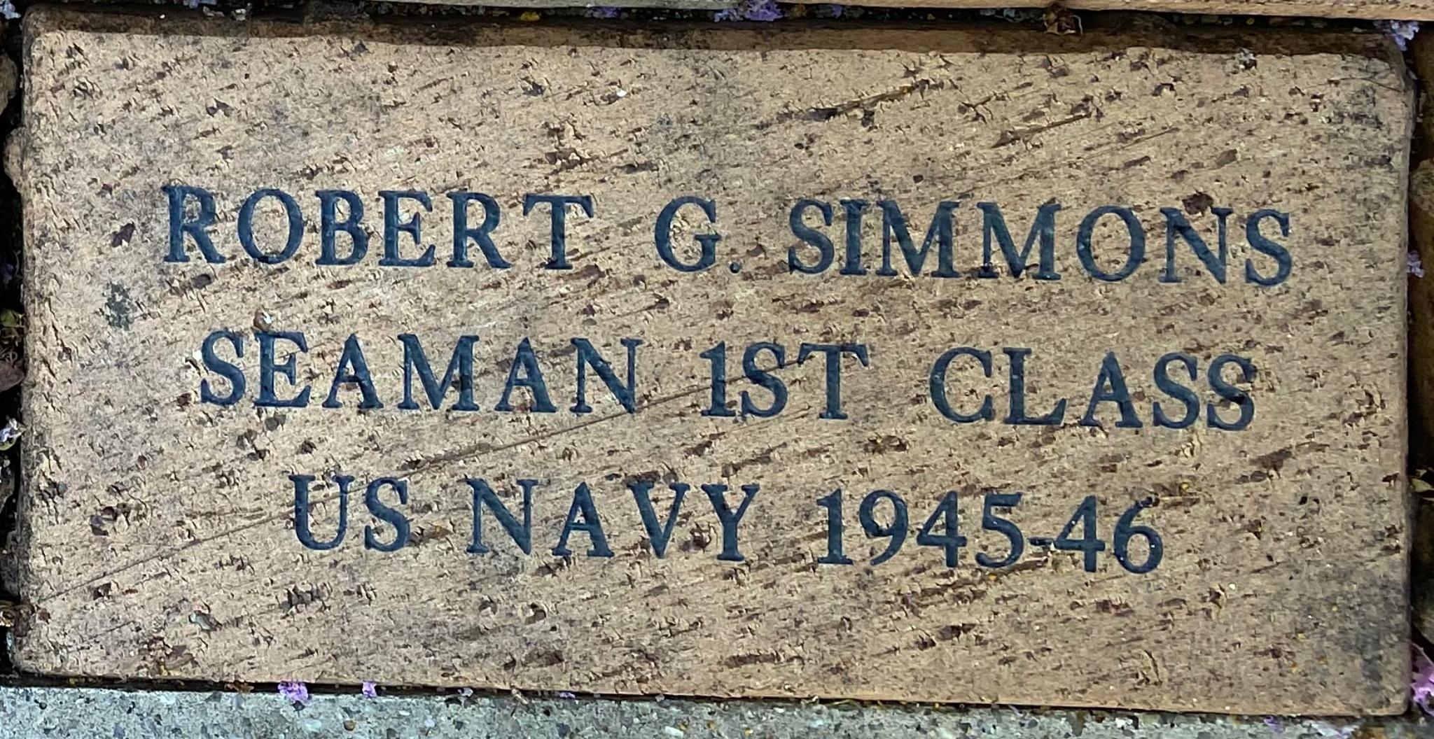 ROBERT G. SIMMONS SEAMAN 1ST CLASS US NAVY 1945-46