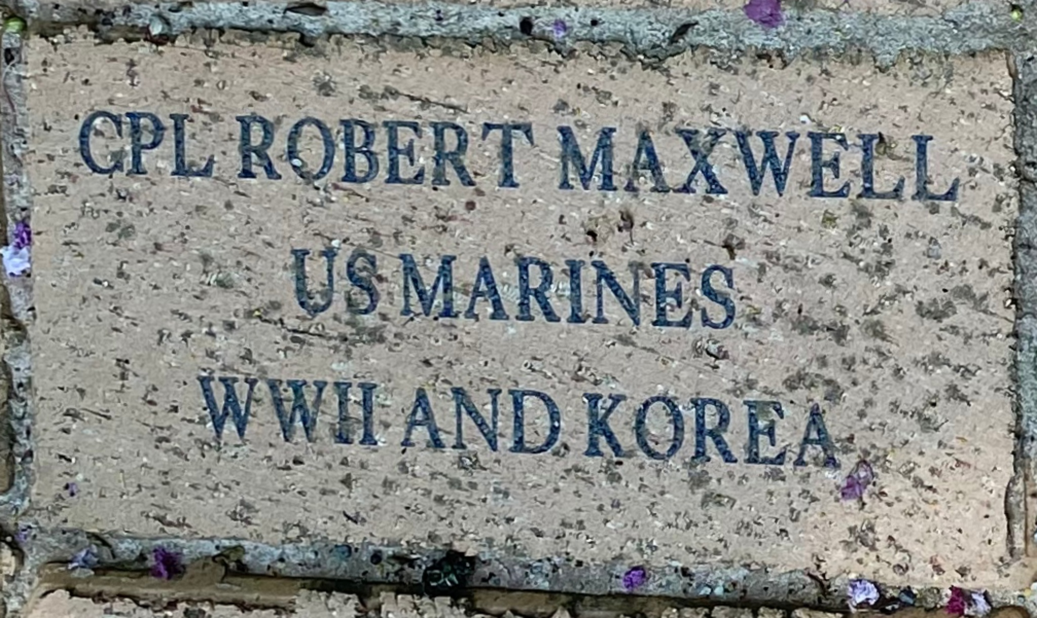 CPL ROBERT MAXWELL US MARINES WWII AND KOREA