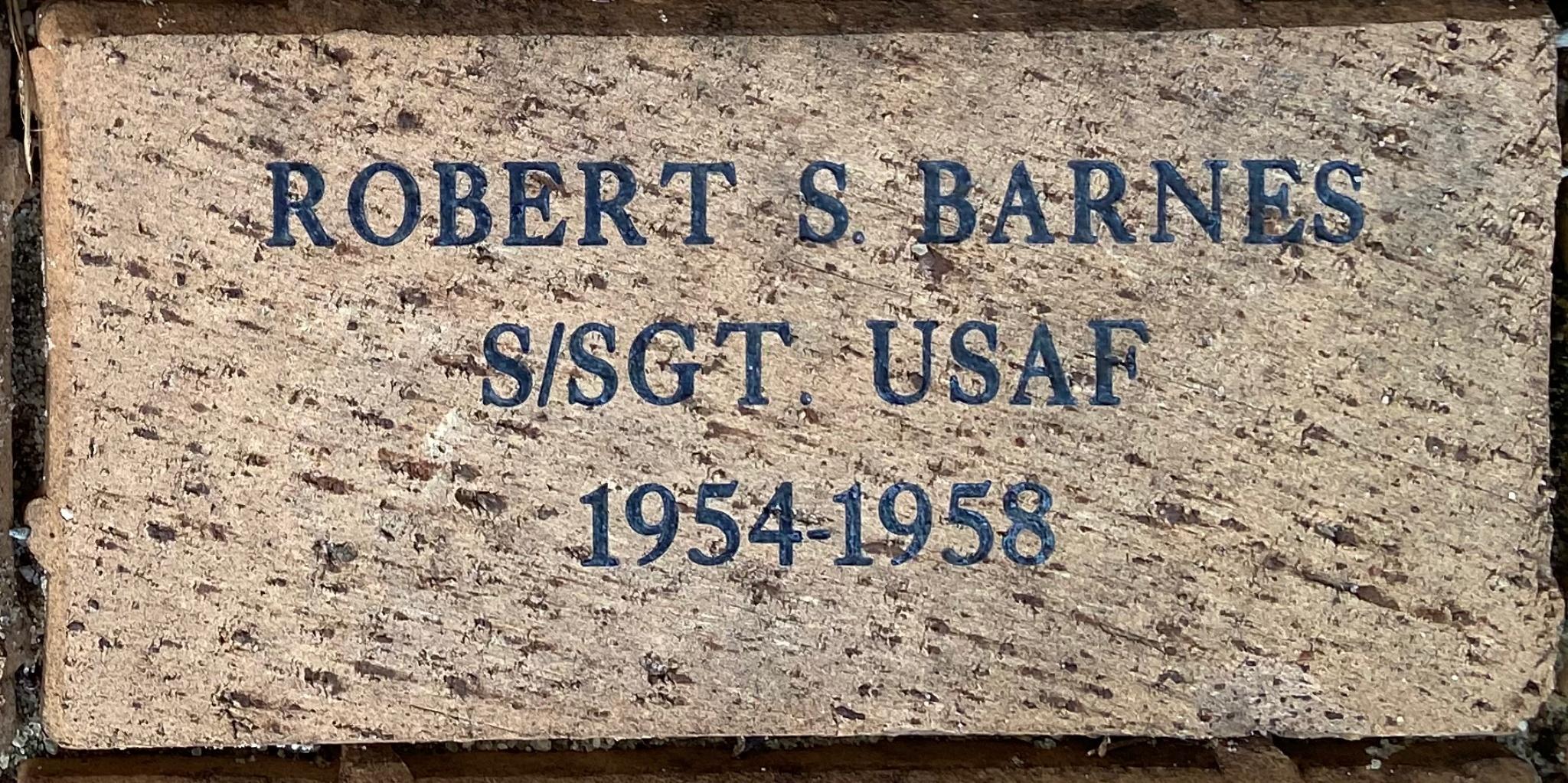 ROBERT S. BARNES S/SGT USAF 1954-1958