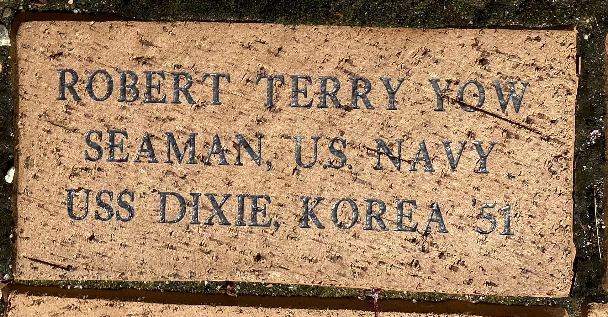 ROBERT TERRY YOW SEAMAN, U.S. NAVY USS DIXIE, KOREA '51