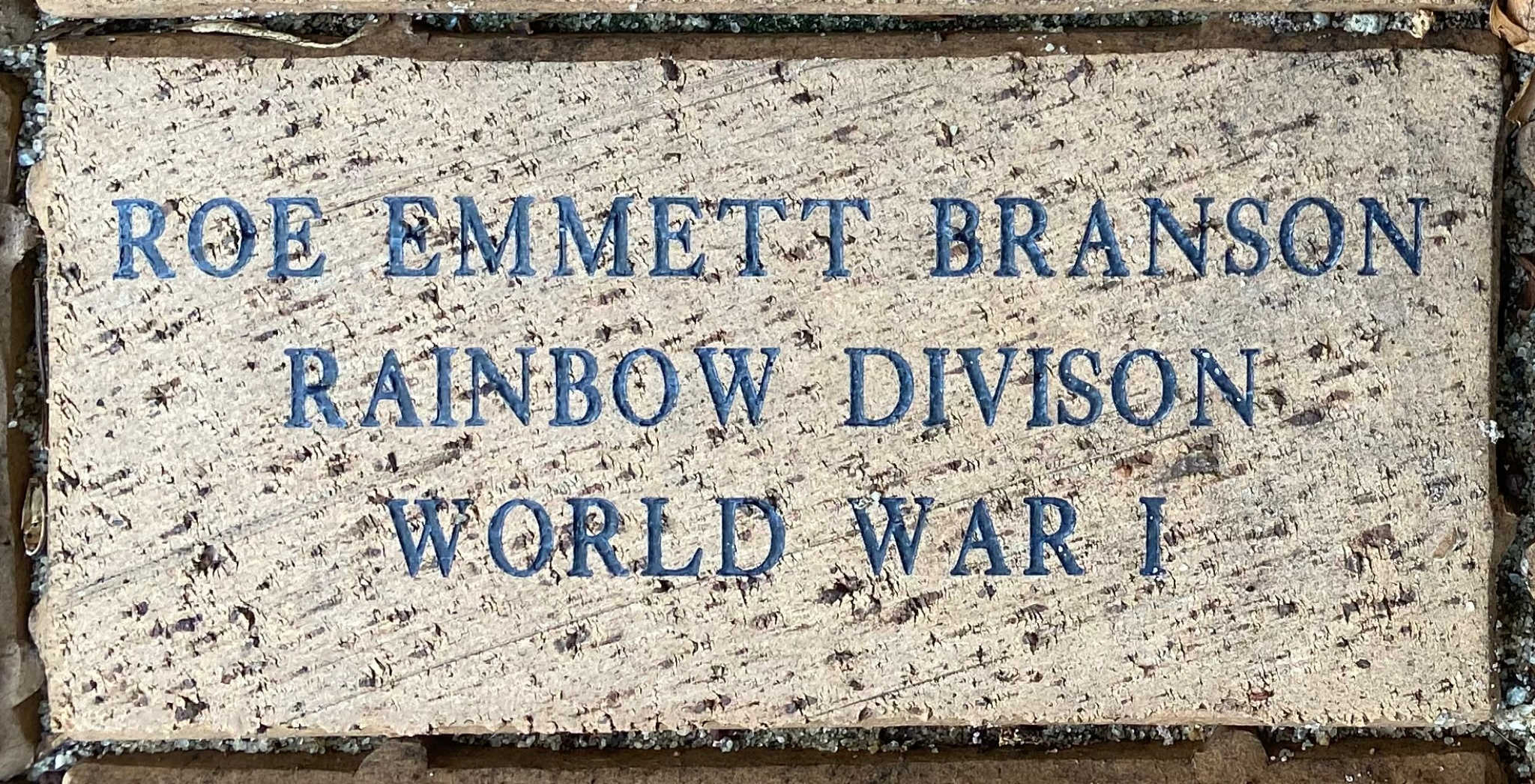 ROE EMMETT BRANSON RAINBOW DIVISION WORLD WAR I