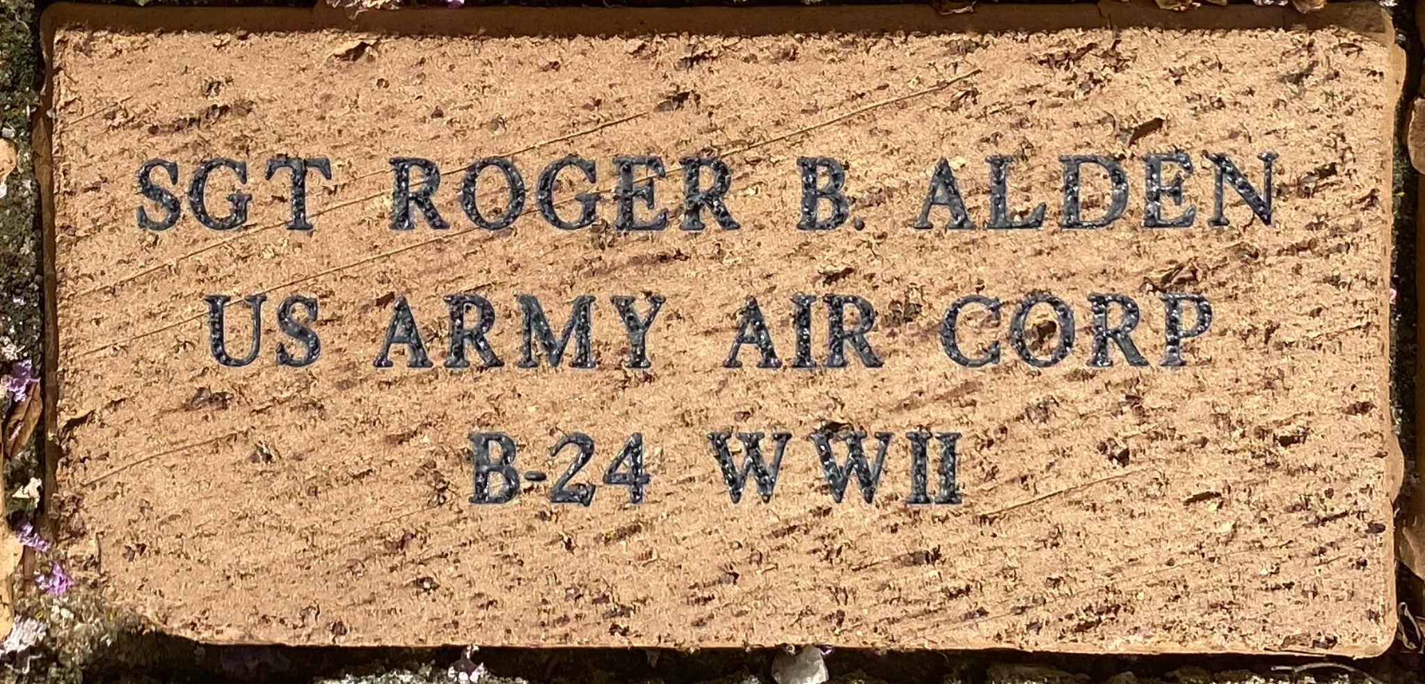 SGT ROGER B. ALDEN US ARMY AIR CORP B-24 WWII