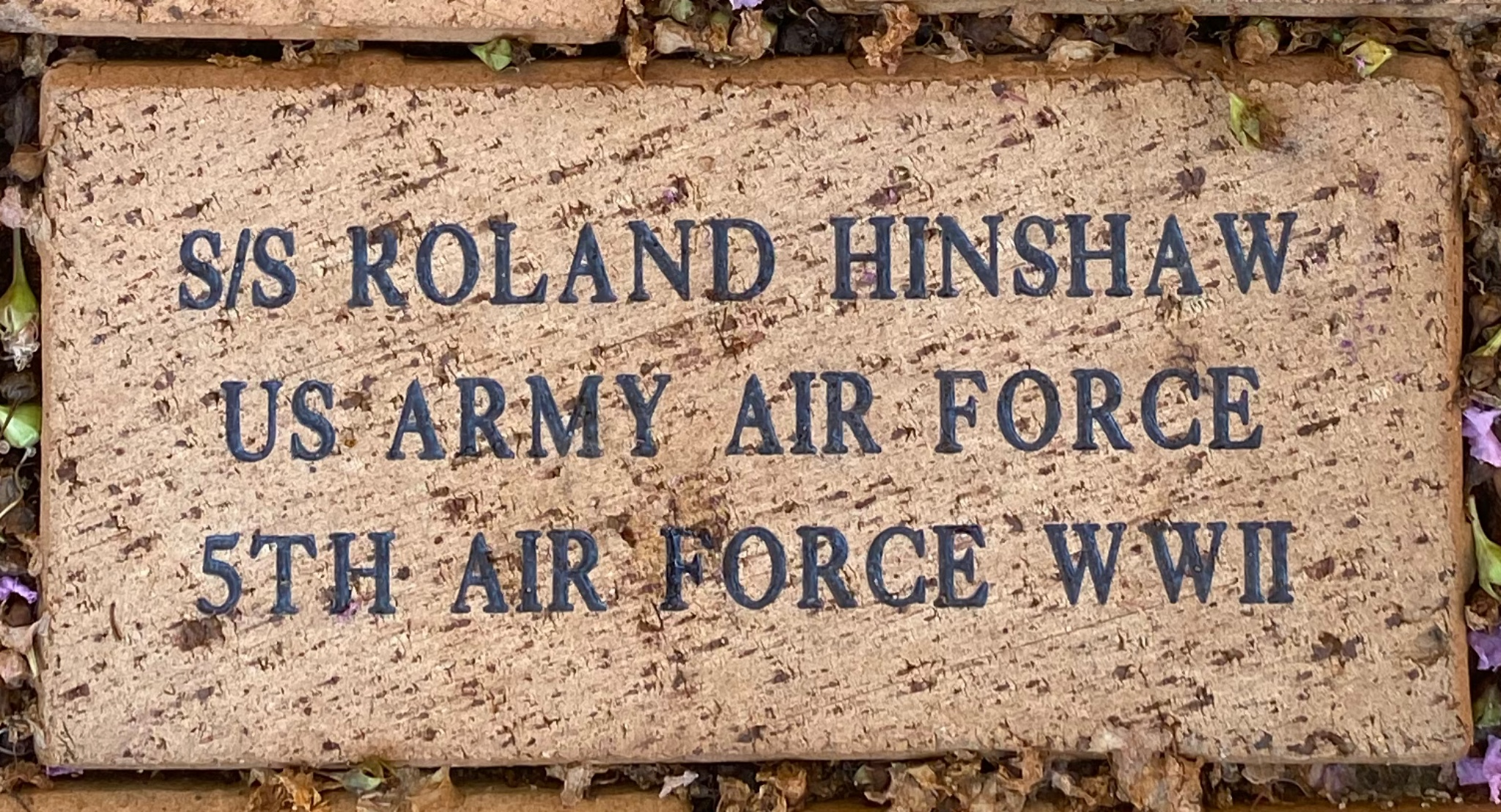 S/S ROLAND HINSHAW US ARMY AIR FORCE 5TH AIR FORCE WWII